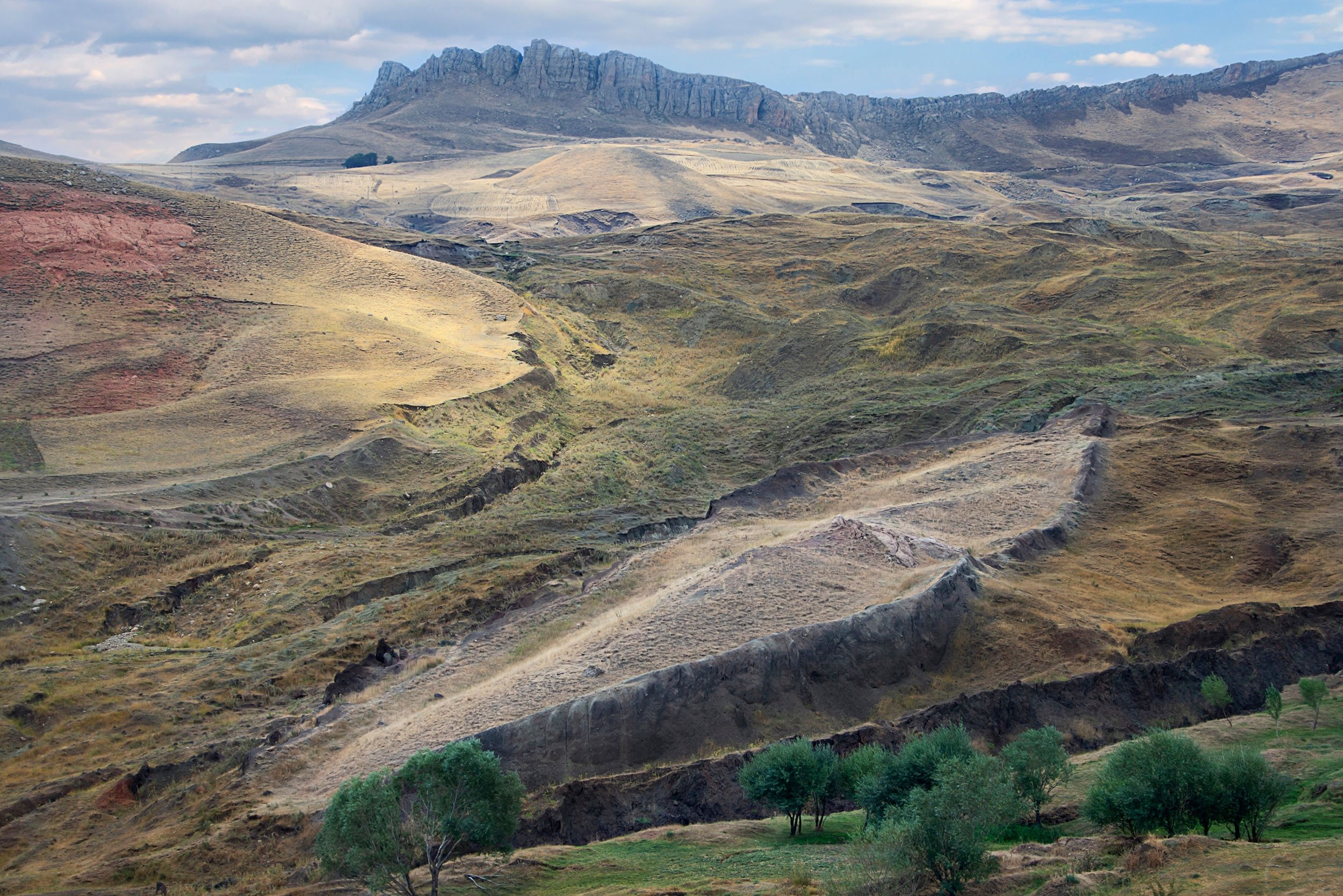 A boat-shaped rock formation some believe is the remains of Noah's Ark at the spot near Mount Ararat, in Doğubeyazıt, Ağrı, eastern Turkey. (Shutterstock Photo)