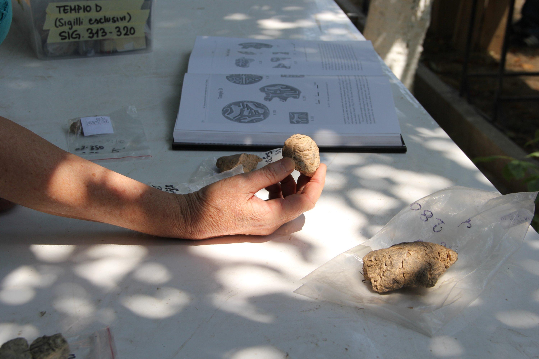 The seal impressions can be seenat the Arslantepe Mound in eastern Malatya province, Turkey, Sept. 6, 2021. (AA Photo)