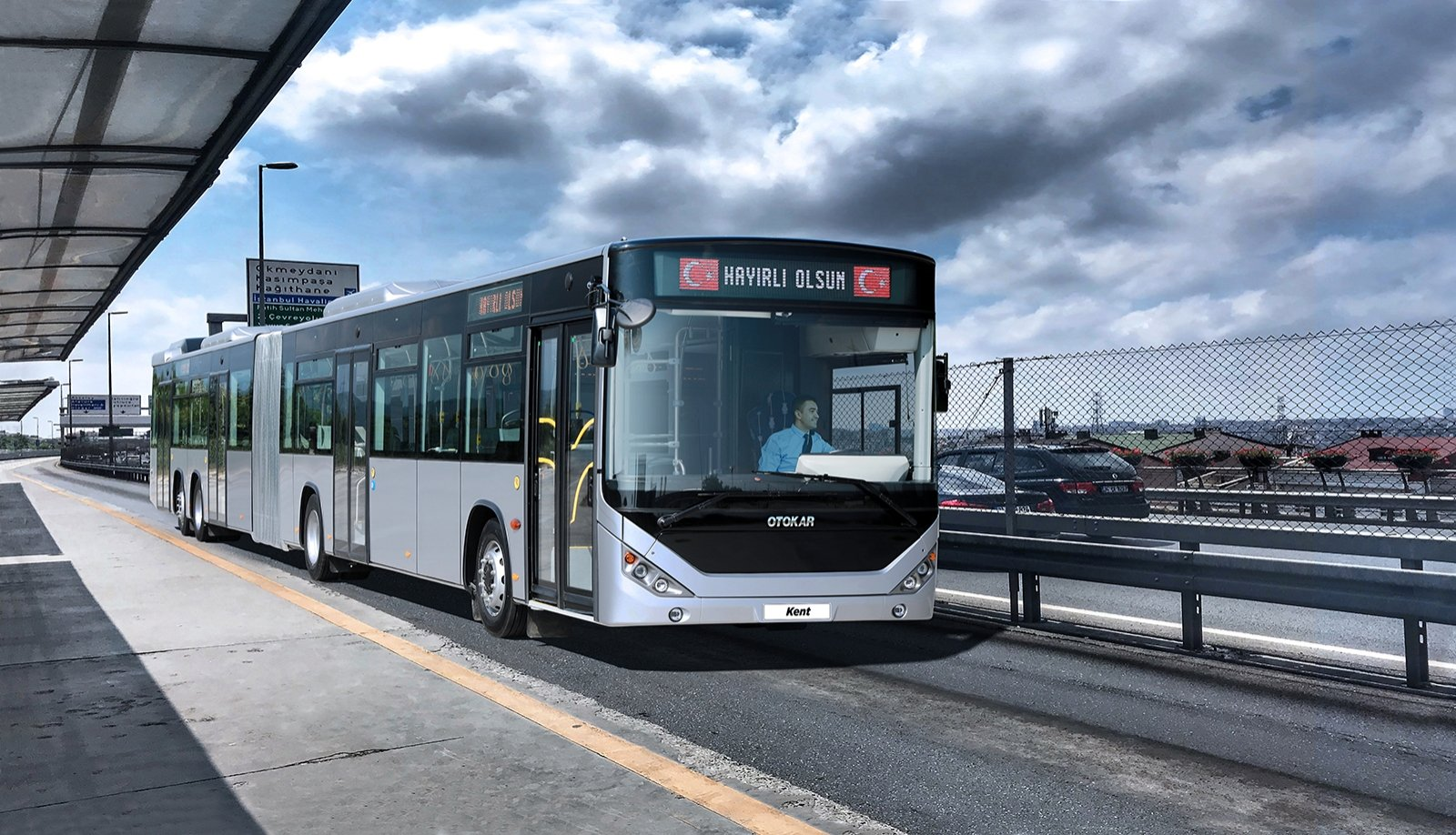 A view of the new metrobus model produced by Otokar, in Istanbul, Turkey, Sept. 6, 2021. (Courtesy of OTOKAR)