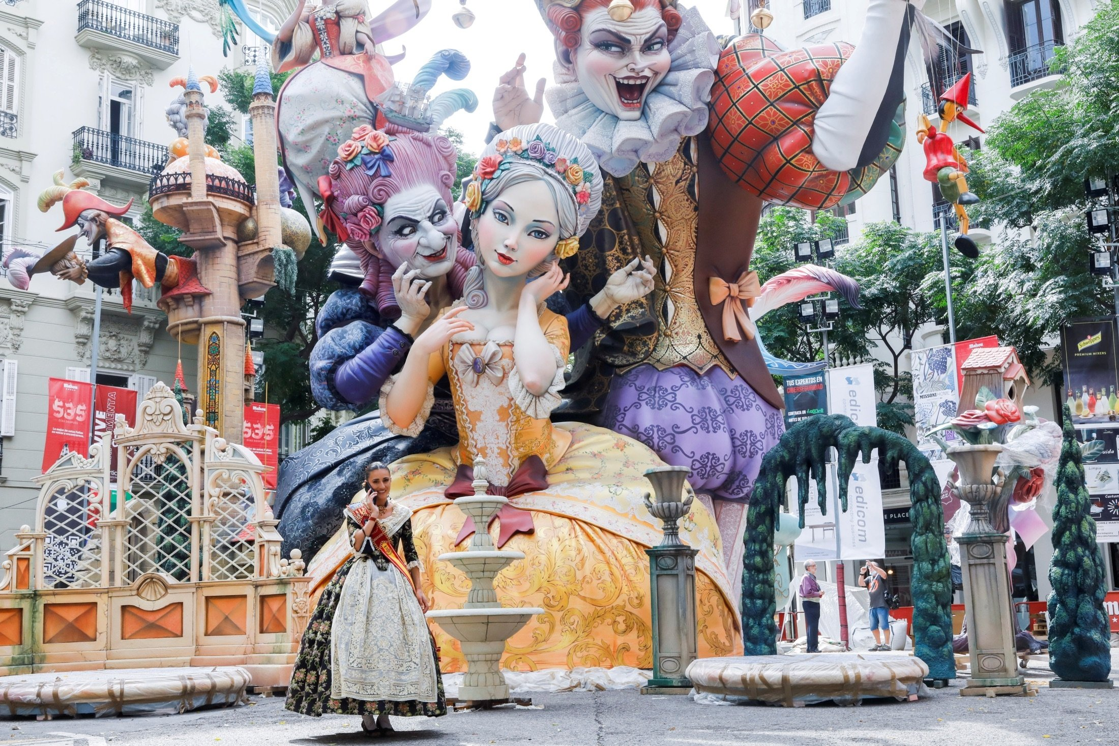 Fallas festival kicks off after its suspension due to the COVID-19 pandemic in Valencia, Spain, Sept. 1, 2021. (Reuters Photo)