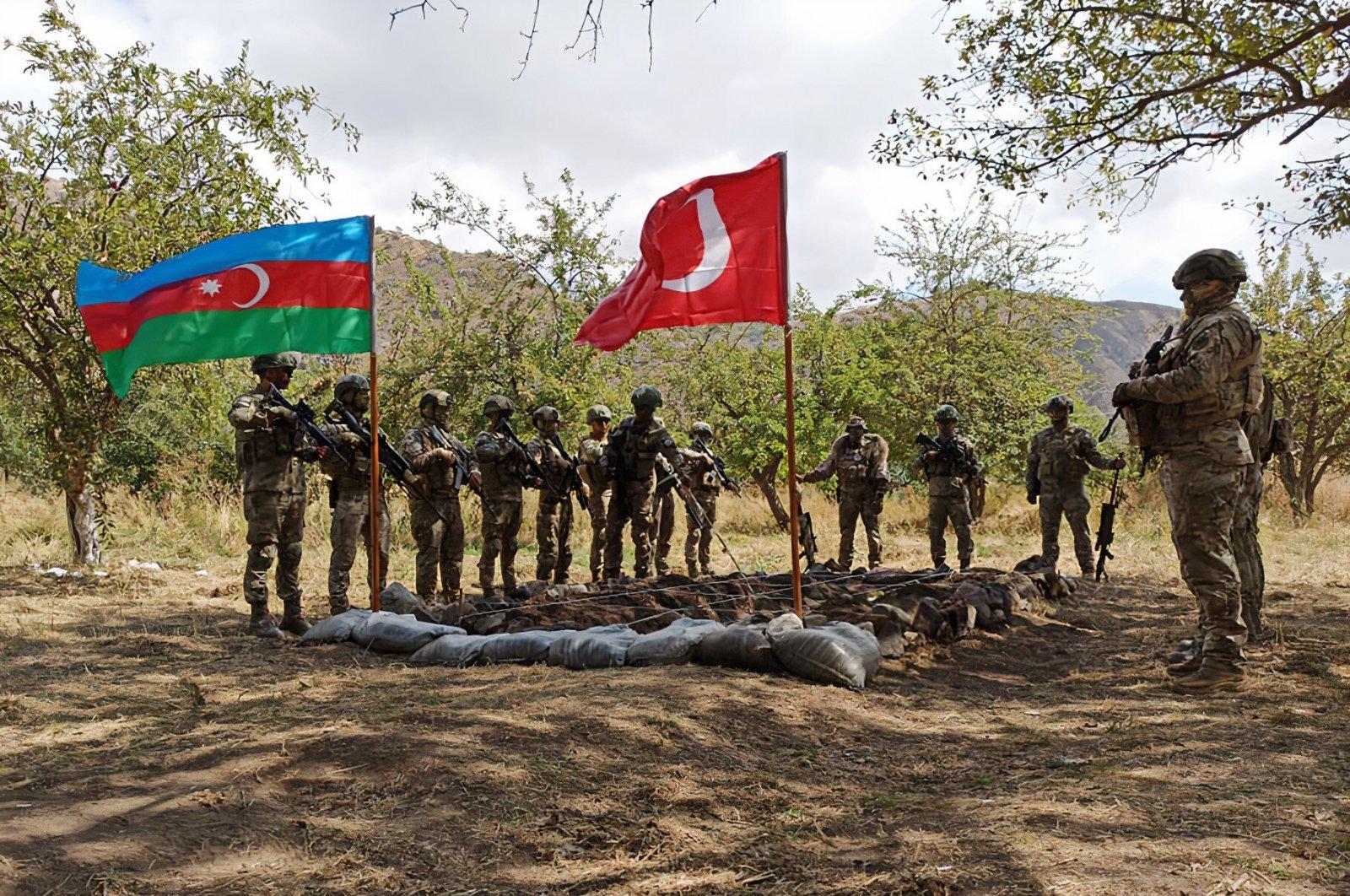 Turkish and Azerbaijani militaries participate in joint military exercises in Lachin, Azerbaijan, Sept. 7, 2021. (AA Photo)