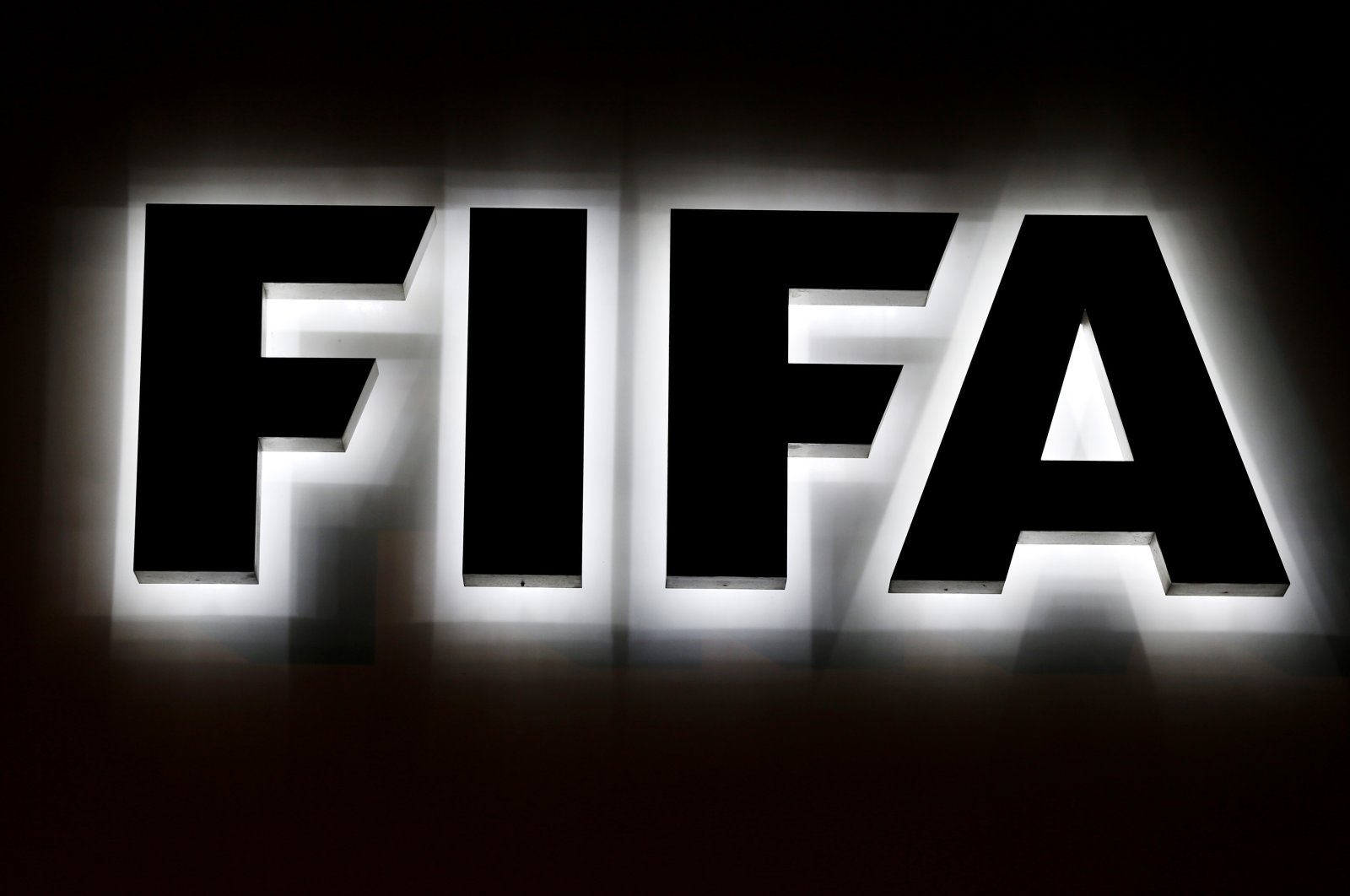 The FIFA logo outside its headquarters in Zurich, Switzerland, Sept. 25, 2015. (AP Photo)