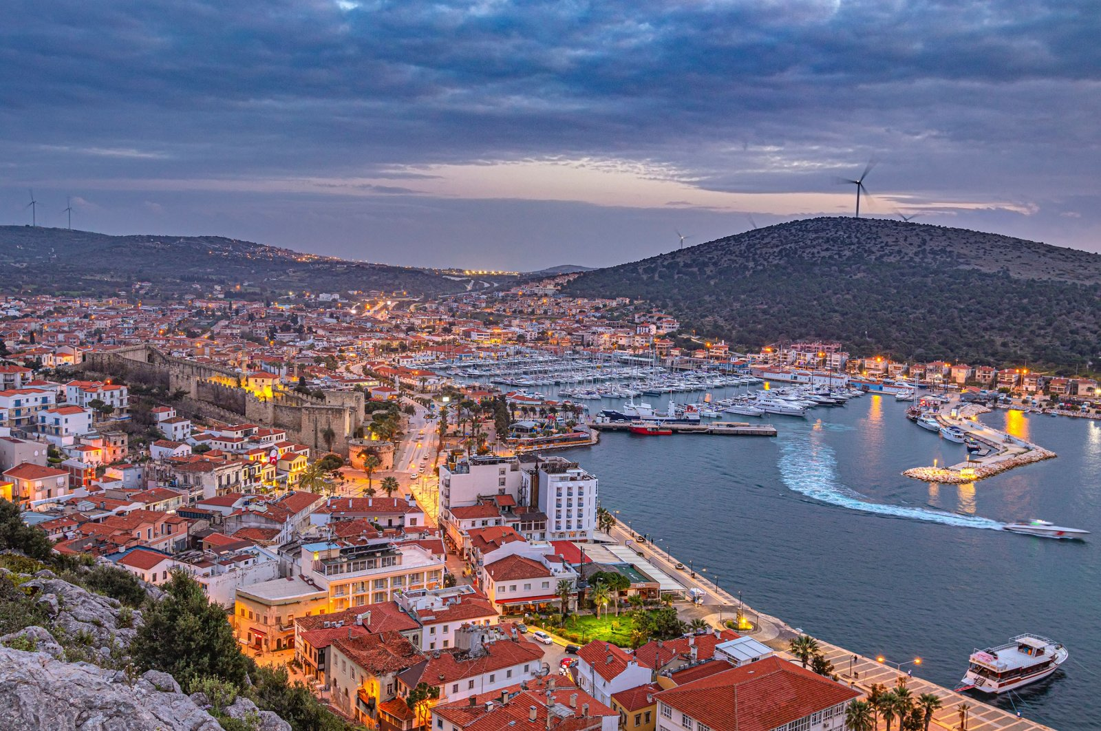An aerial view of thecoastal town ofÇeşme, in Izmir, Turkey, Aug. 23, 2020. (Shutterstock Photo)