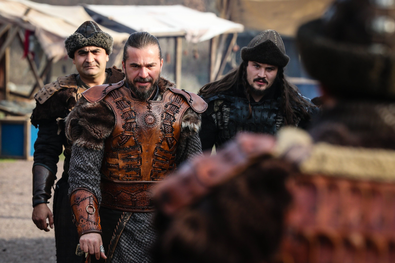 "Actor Engin Altan Düzyatan as Ertuğrul Ghazi in a still from ""Resurrection Ertuğrul."""