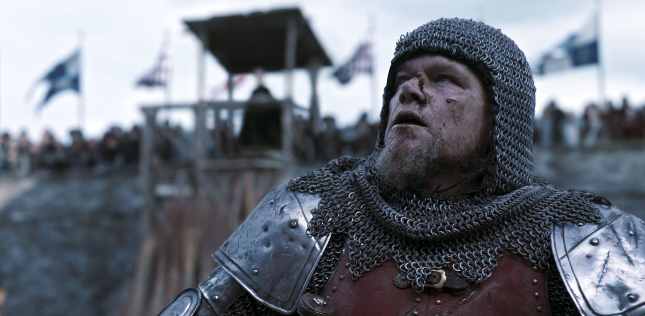 Matt Damon as Jean de Carrouges, in a scene from the film 'The Last Duel.'  (20th Century Studios via AP)