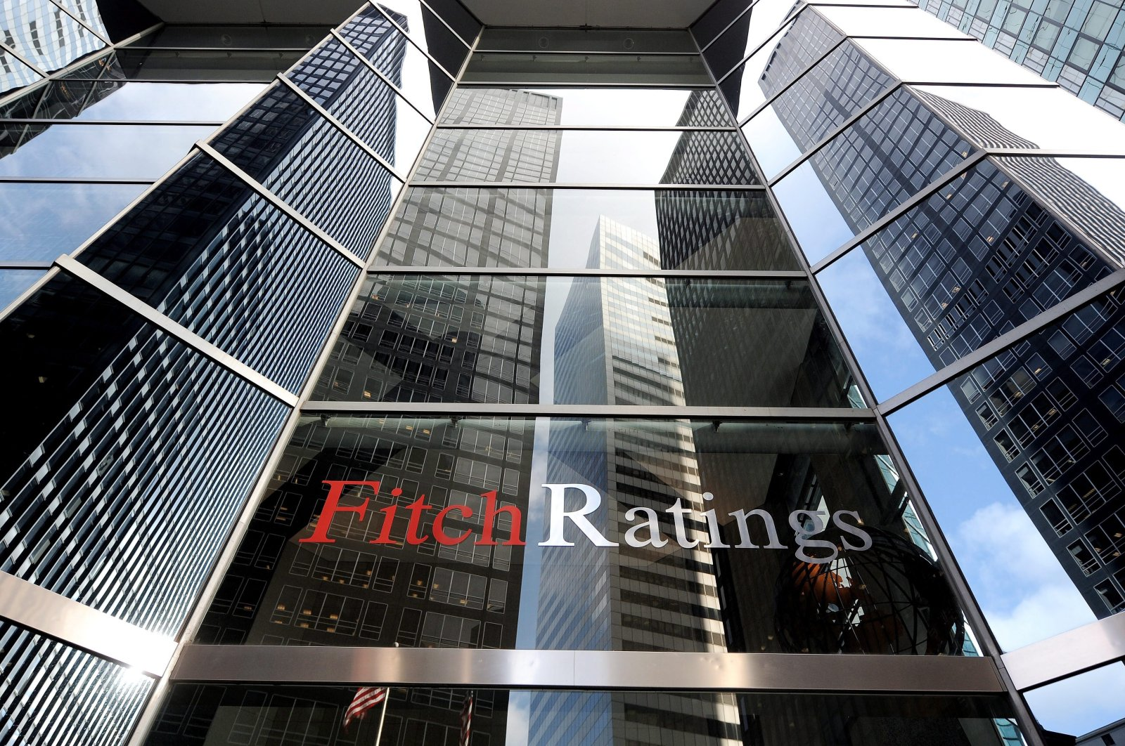 A file photo shows an exterior view of the offices of Fitch Ratings in New York, New York, U.S., Dec. 8, 2011. (EPA Photo)