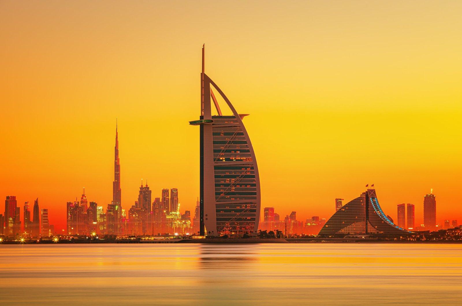 Dubai city skyline view with iconic skyscrapers Burj Khalifa and Burj Al Arab, United Arab Emirates, Dec. 26, 2019. (Shutterstock Photo)