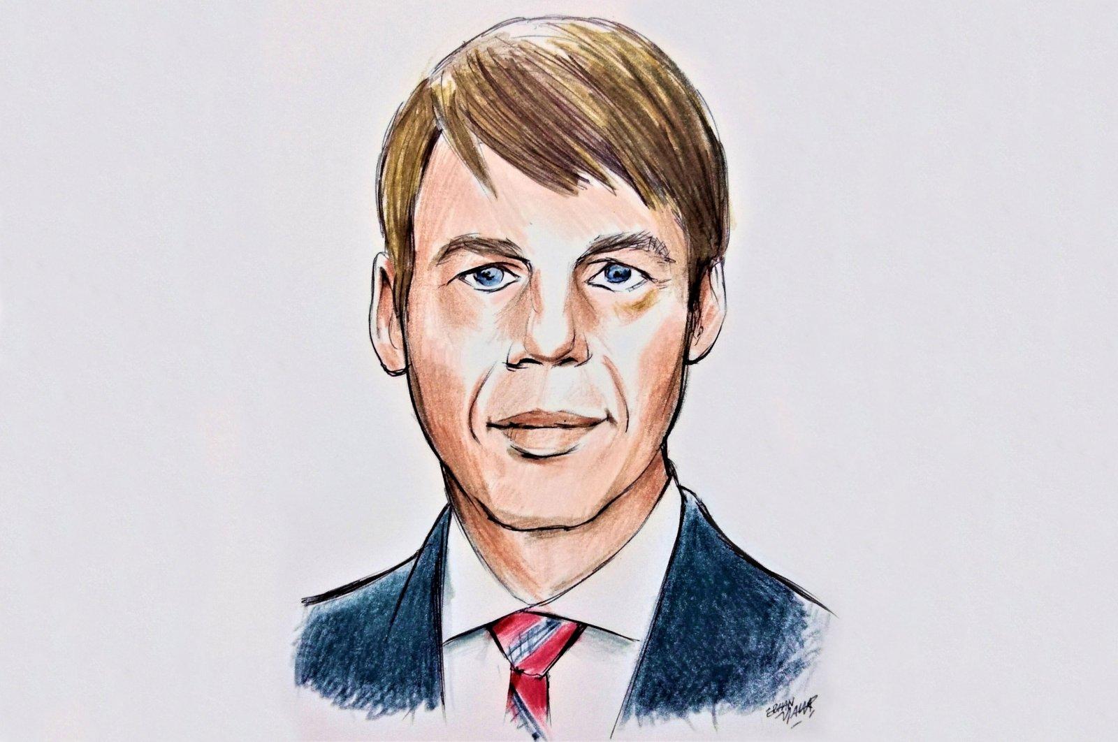 An illustration by Erhan Yalvaç shows a portrait of German diplomat Jan Hecker.