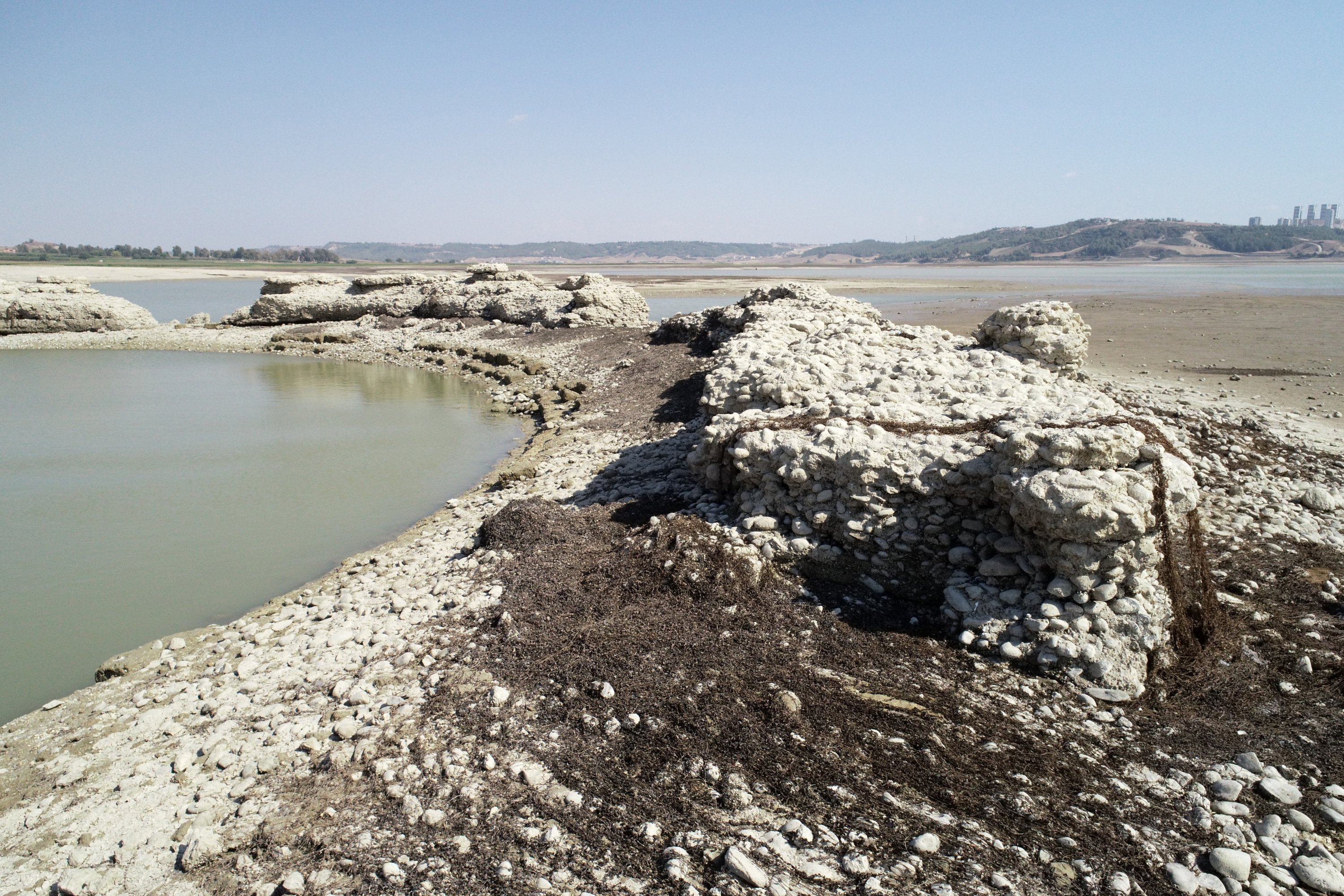 The ancient city, which dates back to B.C. 58-A.D. 29, was flooded by the Seyhan Dam Lake in 1955, Adana, Turkey. (AA Photo)