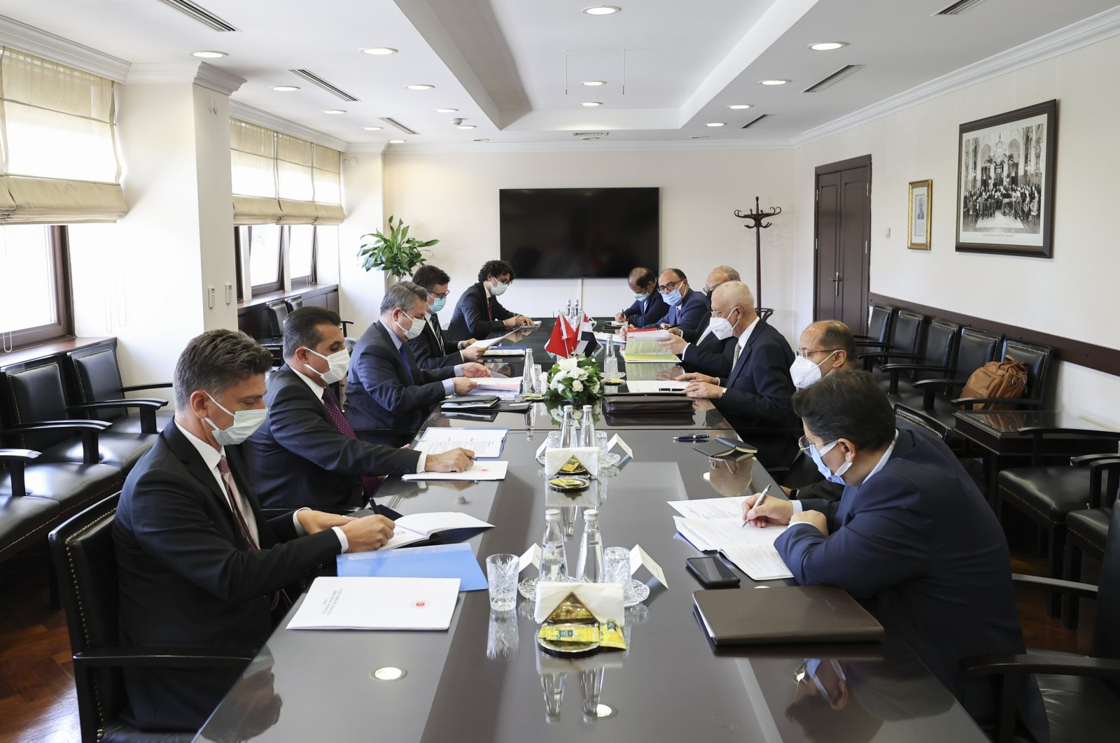 Turkish and Egyptian delegations meet for the second round of political talks in the capital, Ankara, Turkey, Sept. 7, 2021. (AA Photo)