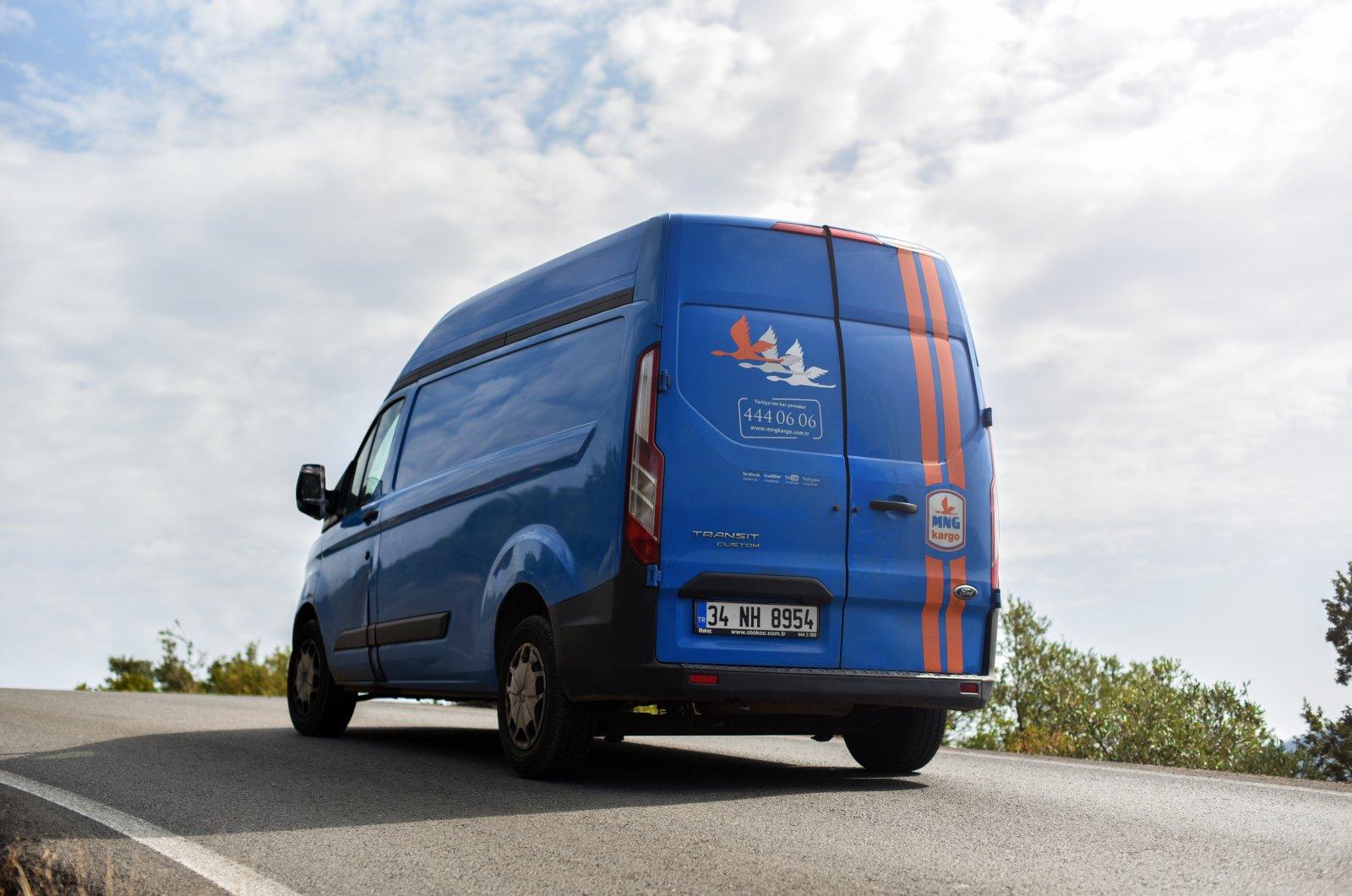 An MNG Kargo delivery van in Marmaris, Turkey, Nov. 10, 2019. (Shutterstock Photo)
