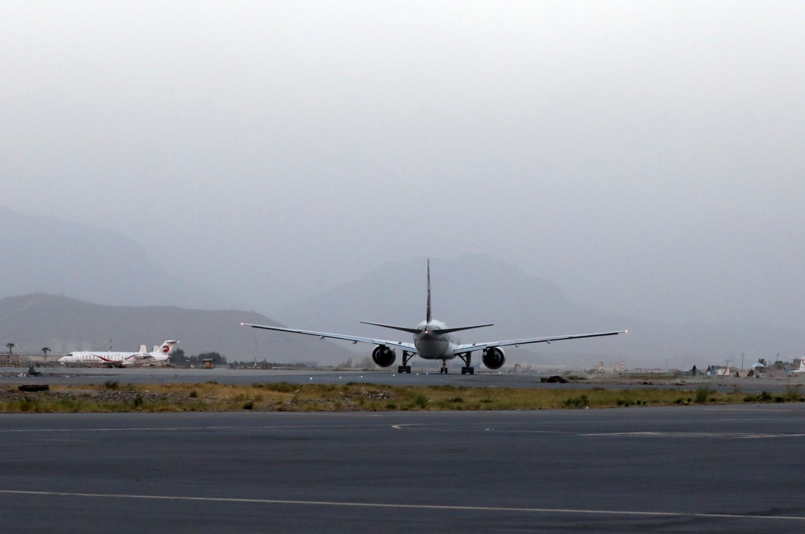 The first international flight from Kabul since the withdrawal of U.S. troops from Afghanistan taxis at the Kabul Hamid Karzai International Airport in Kabul, Afghanistan, Sept. 9, 2021. (REUTERS Photo)