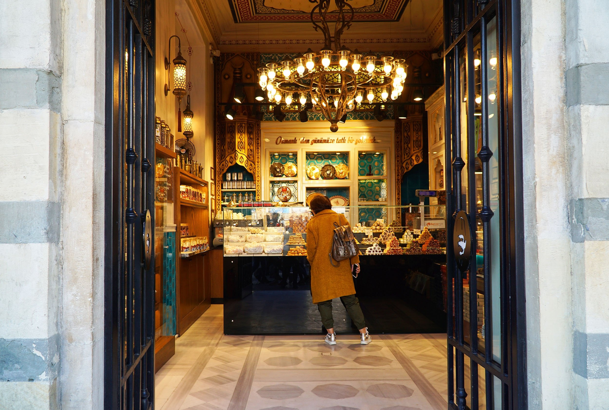 Aview of the historical Hacı Bekir sweet shop in the Karaköy district,Istanbul, Turkey. (Shutterstock Photo)