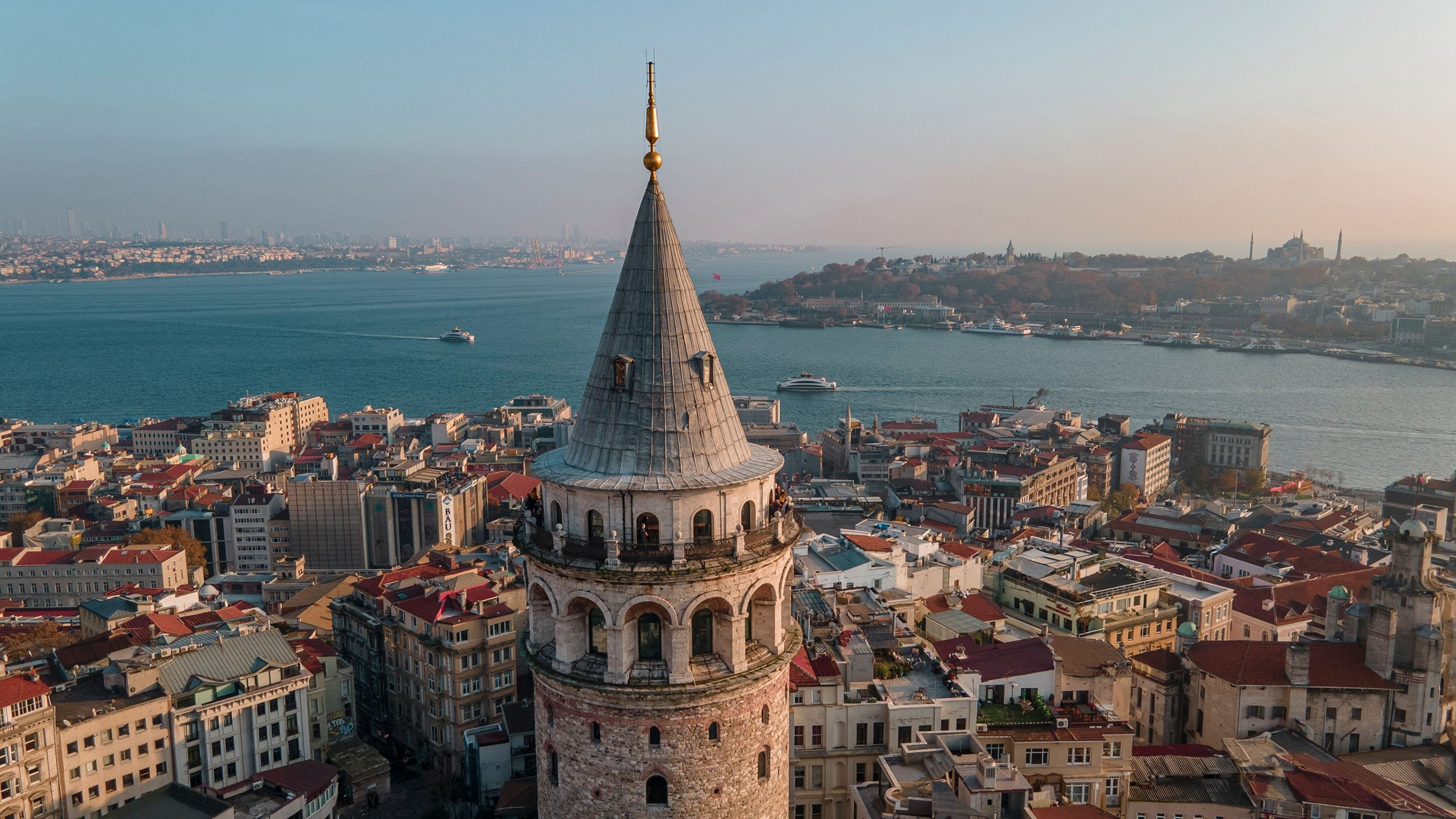 The Galata Tower, one of the historical symbols ofIstanbul, Turkey. (Shutterstock Photo)