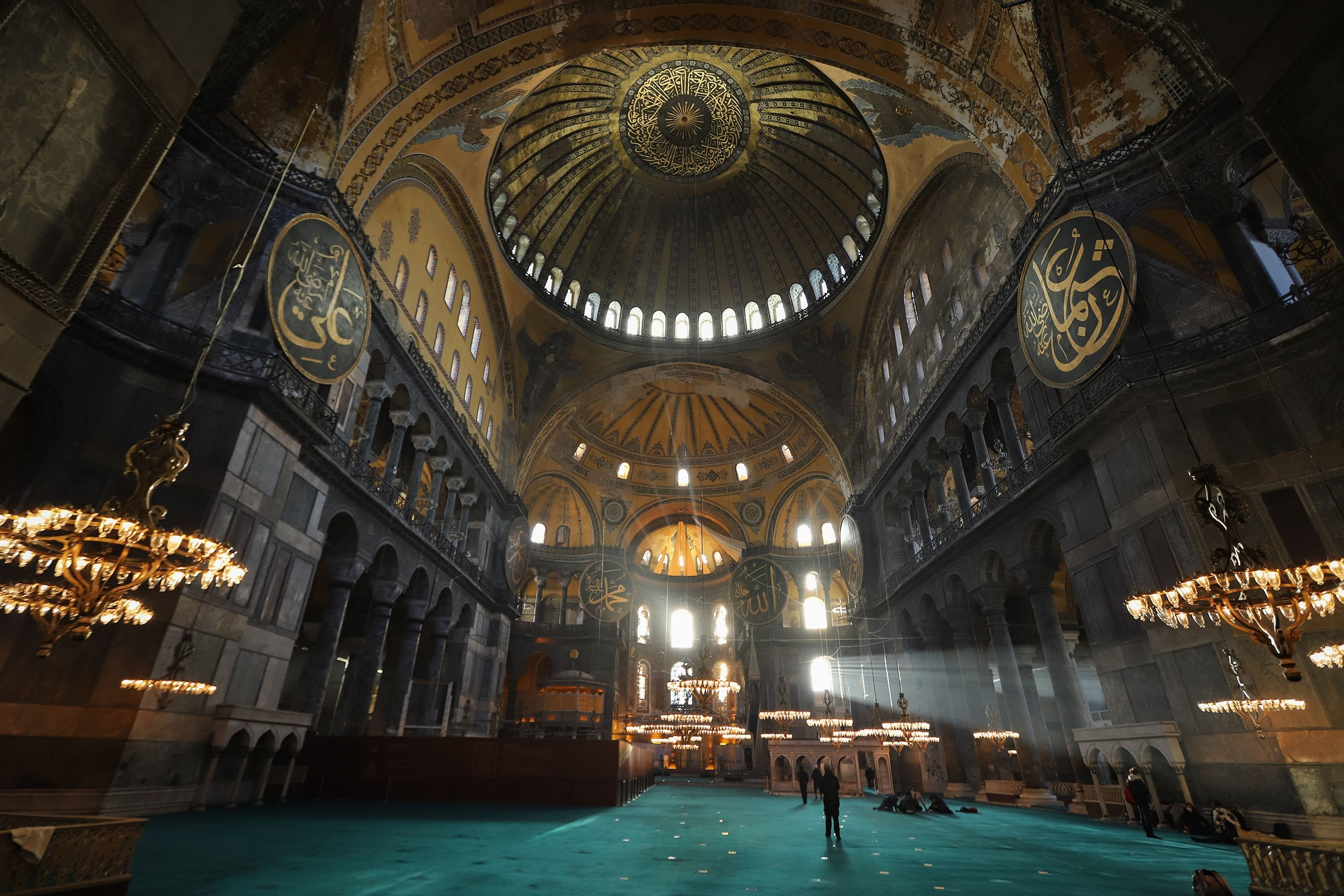 An interior view of the Hagia Sophia Grand Mosque in Sultanahmet,Istanbul, Turkey. (Shutterstock Photo)