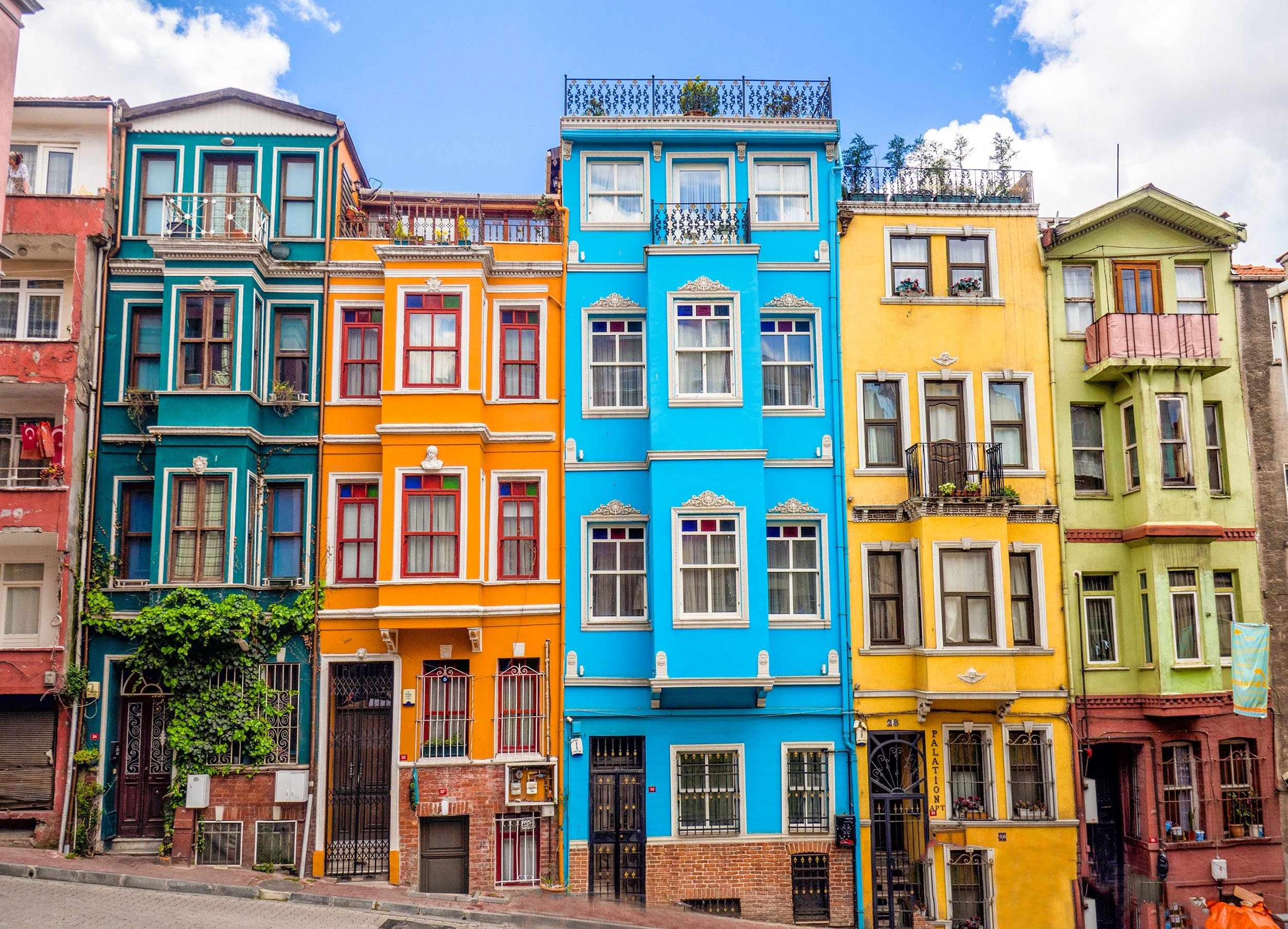 The unique colorful houses of the Balat district,Istanbul, Turkey. (Shutterstock Photo)
