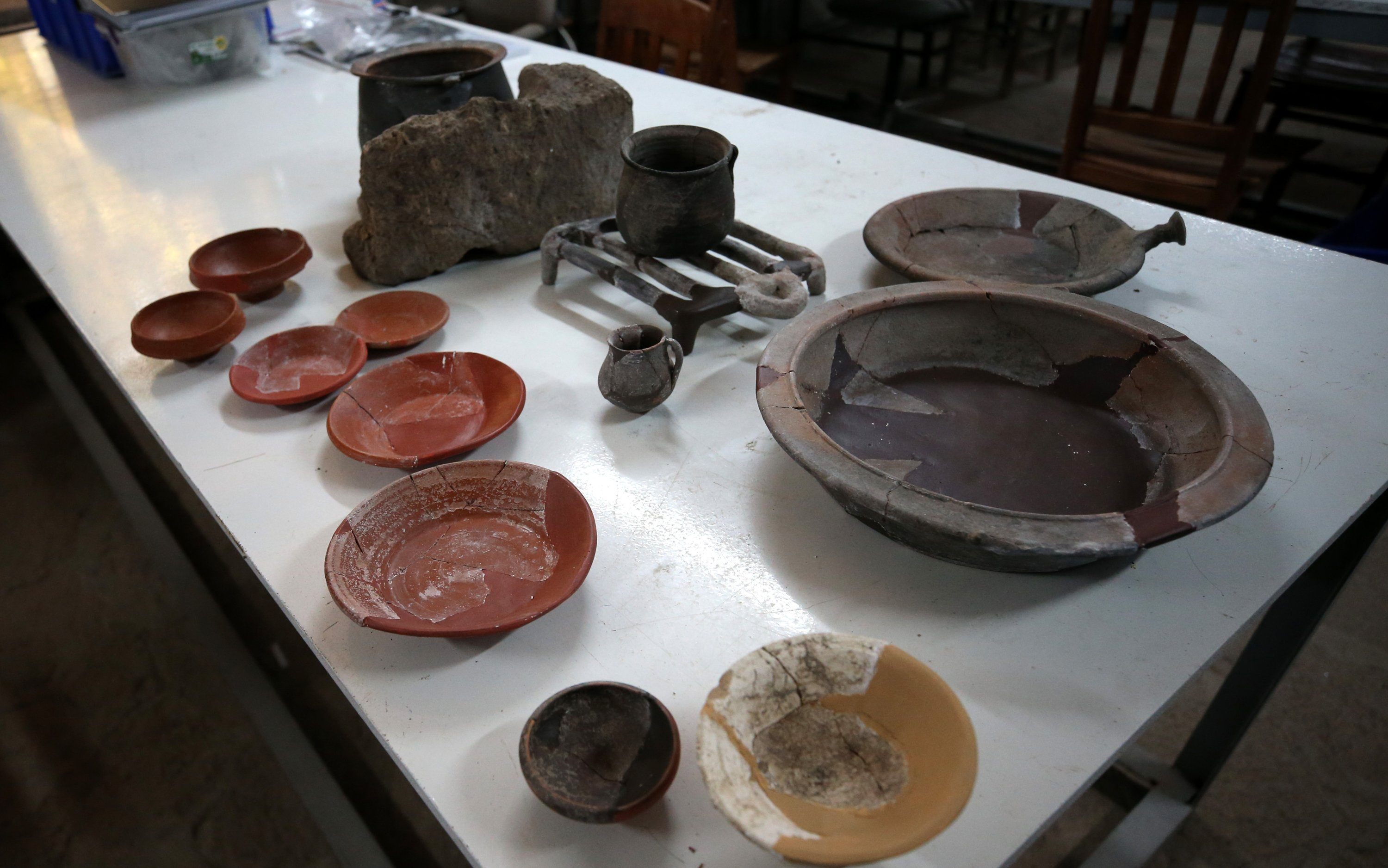Pottery unearthed in the ancient city of Assos, Çanakkale, Turkey, Sept. 8, 2021. (AA Photo)