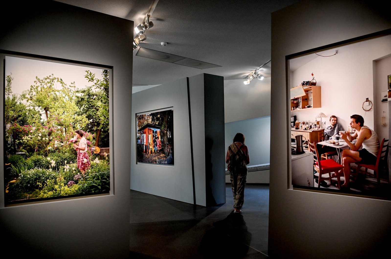 A selection of portraits by Frederic Brenner depicting Jewish life on display in the Jewish Museum Berlin. (dpa Photo)