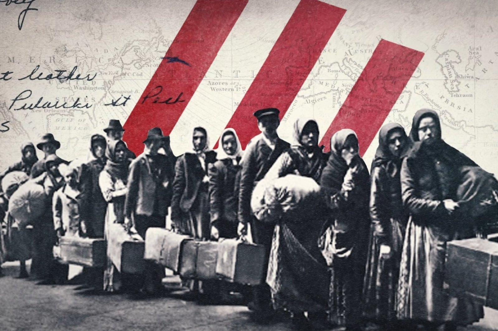 "A still shot from ""Ottoman America."" (AA Photo)"