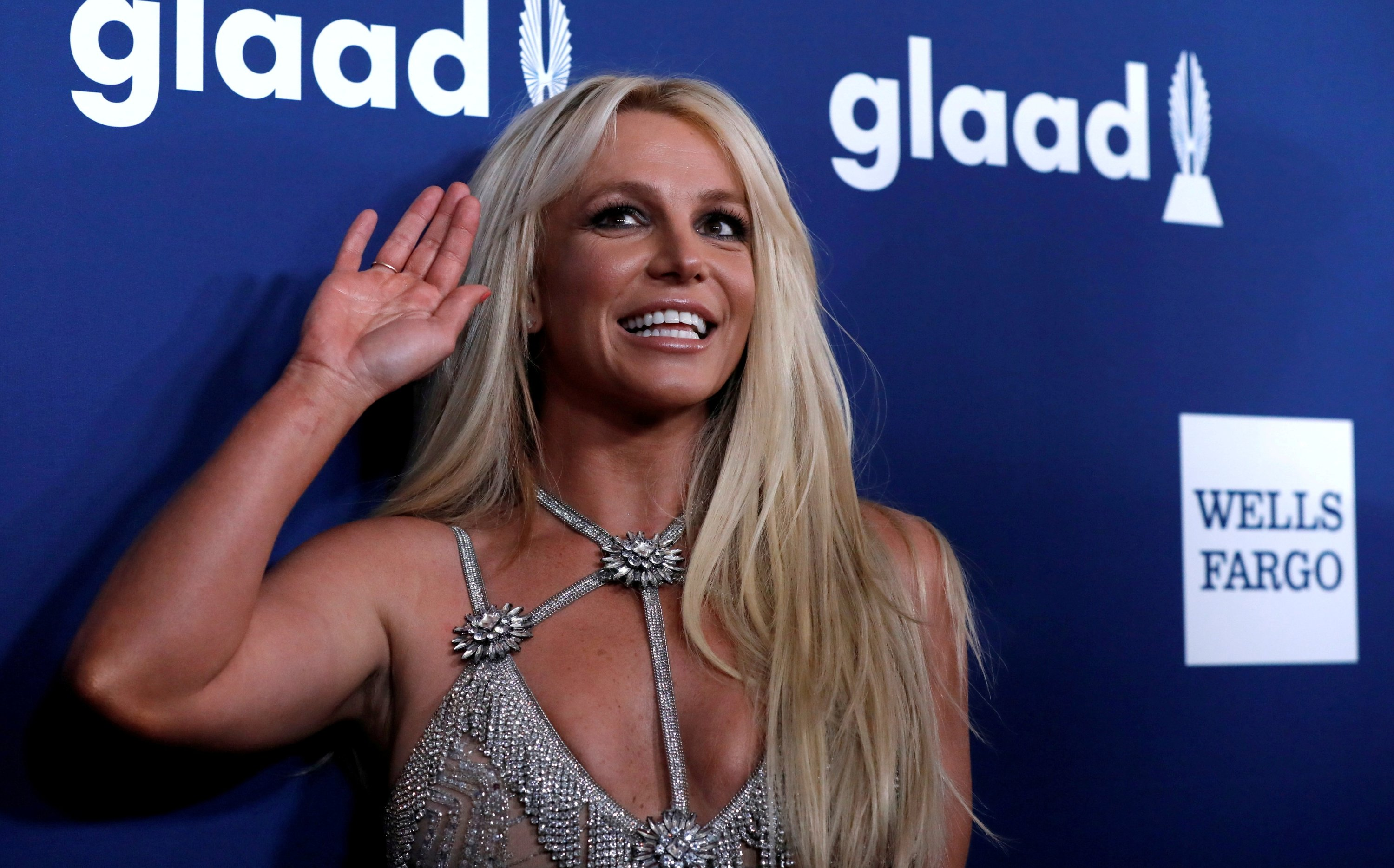 Singer Britney Spears poses at the 29th Annual GLAAD Media Awards in Beverly Hills, California, U.S., April 12, 2018. (REUTERS Photo)