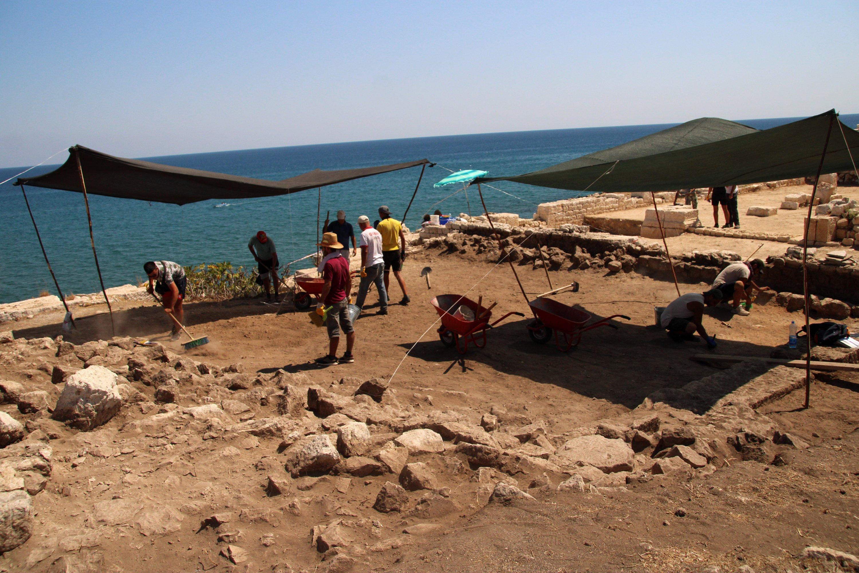 Archaeologists work on the ancient city of Elaiussa Sebaste, Mersin, southern Turkey, Sept. 10, 2021. (AA Photo)