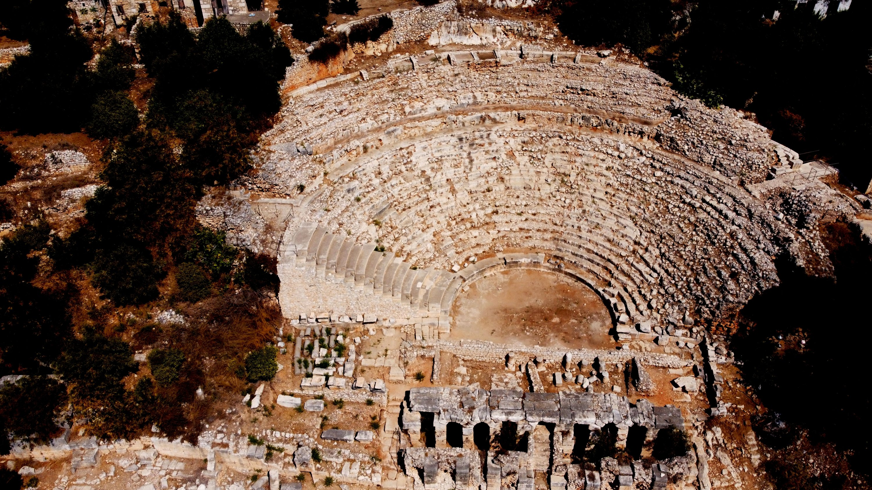 A view from the theater of the ancient city of Elaiussa Sebaste, Mersin, southern Turkey, Sept. 10, 2021. (AA Photo)