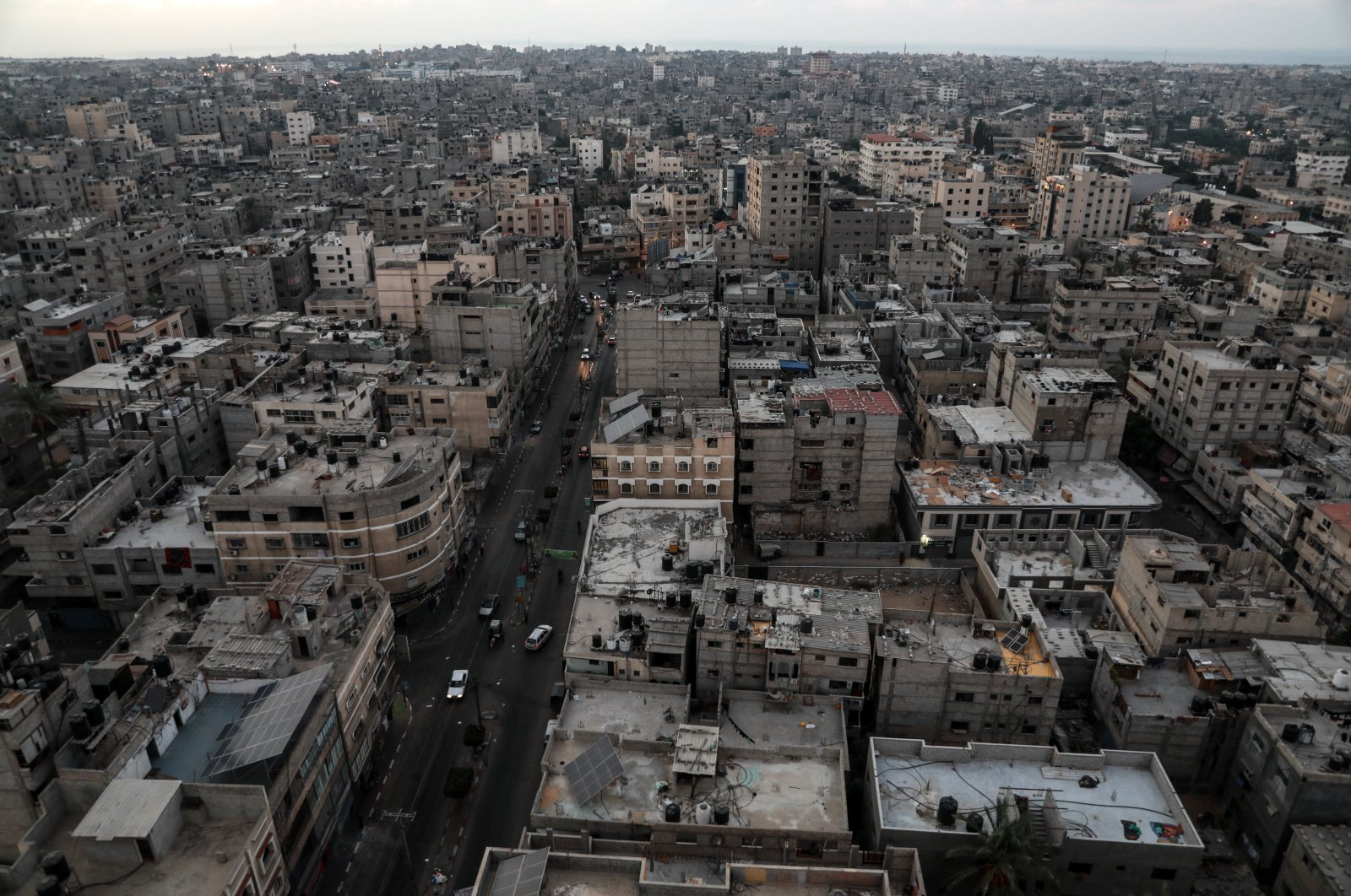 The general view of Khan Younis city in southern Gaza Strip, Palestine, Sept. 3, 2021. (Photo by Getty Images)