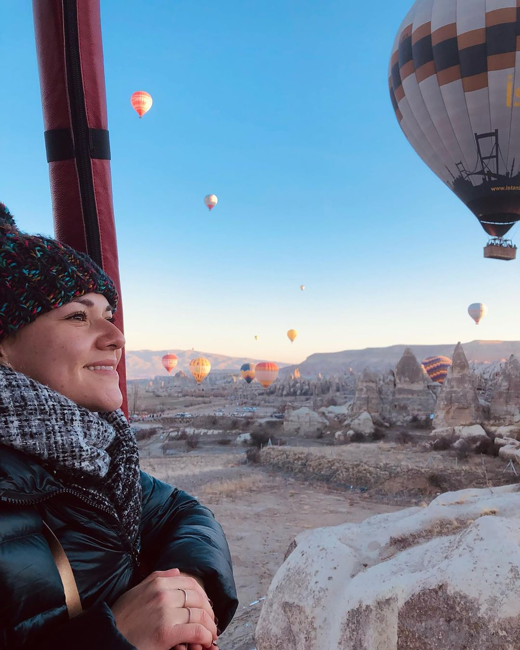 YouTuber Fiore Bella in Cappadocia, Turkey. (Photo from Instagram's fiore_bella_exploretr)