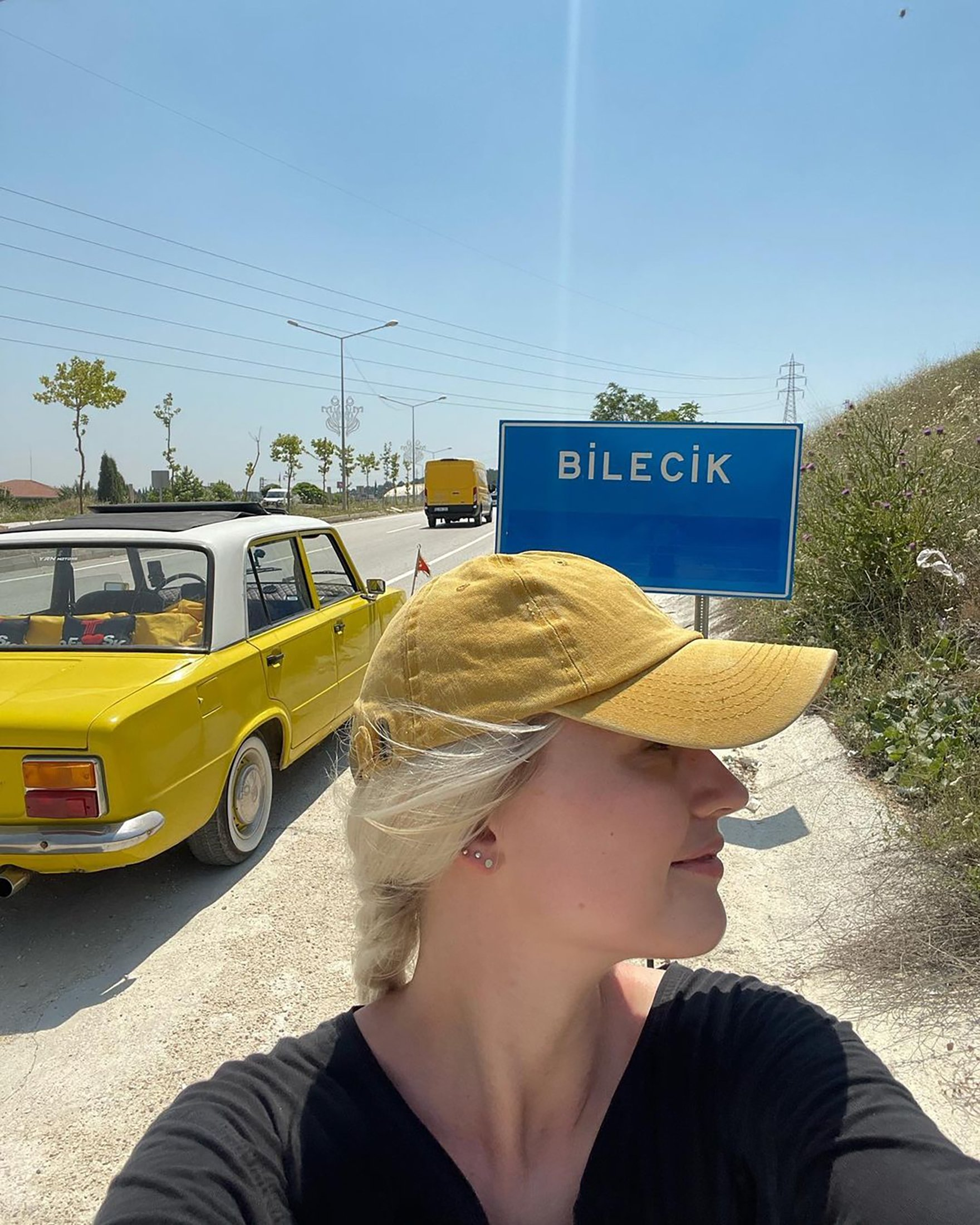 YouTuber Franziska Niehus in Bilecik, Turkey. (Photo from Instagram's travelcomic)