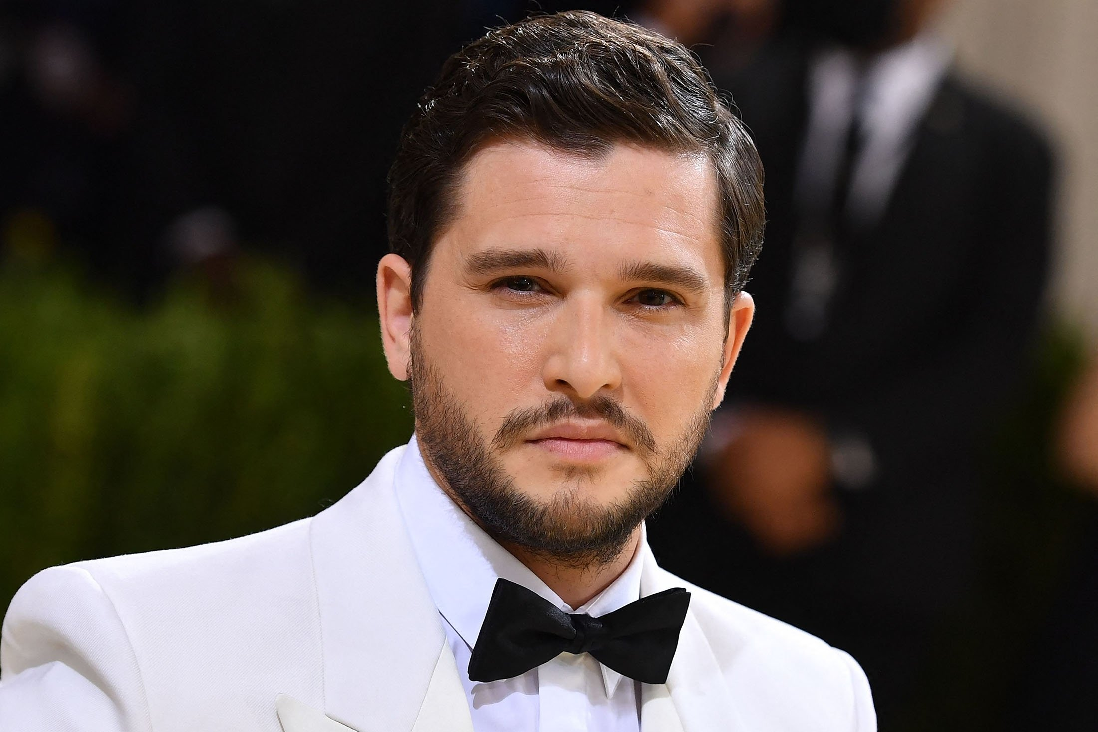 English actor Kit Harington arrives for the 2021 Met Gala at the Metropolitan Museum of Art, in New York, U.S., Sept. 13, 2021. (AFP Photo)