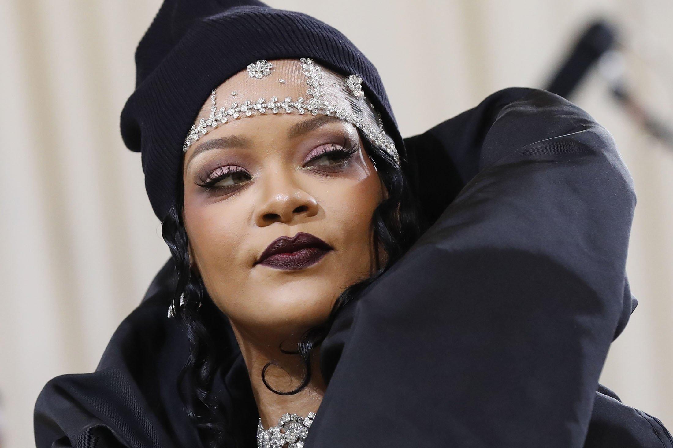 Rihanna arrives for the 2021 Met Gala at the Metropolitan Museum of Art, in New York, U.S., Sept. 13, 2021. (Reuters Photo)
