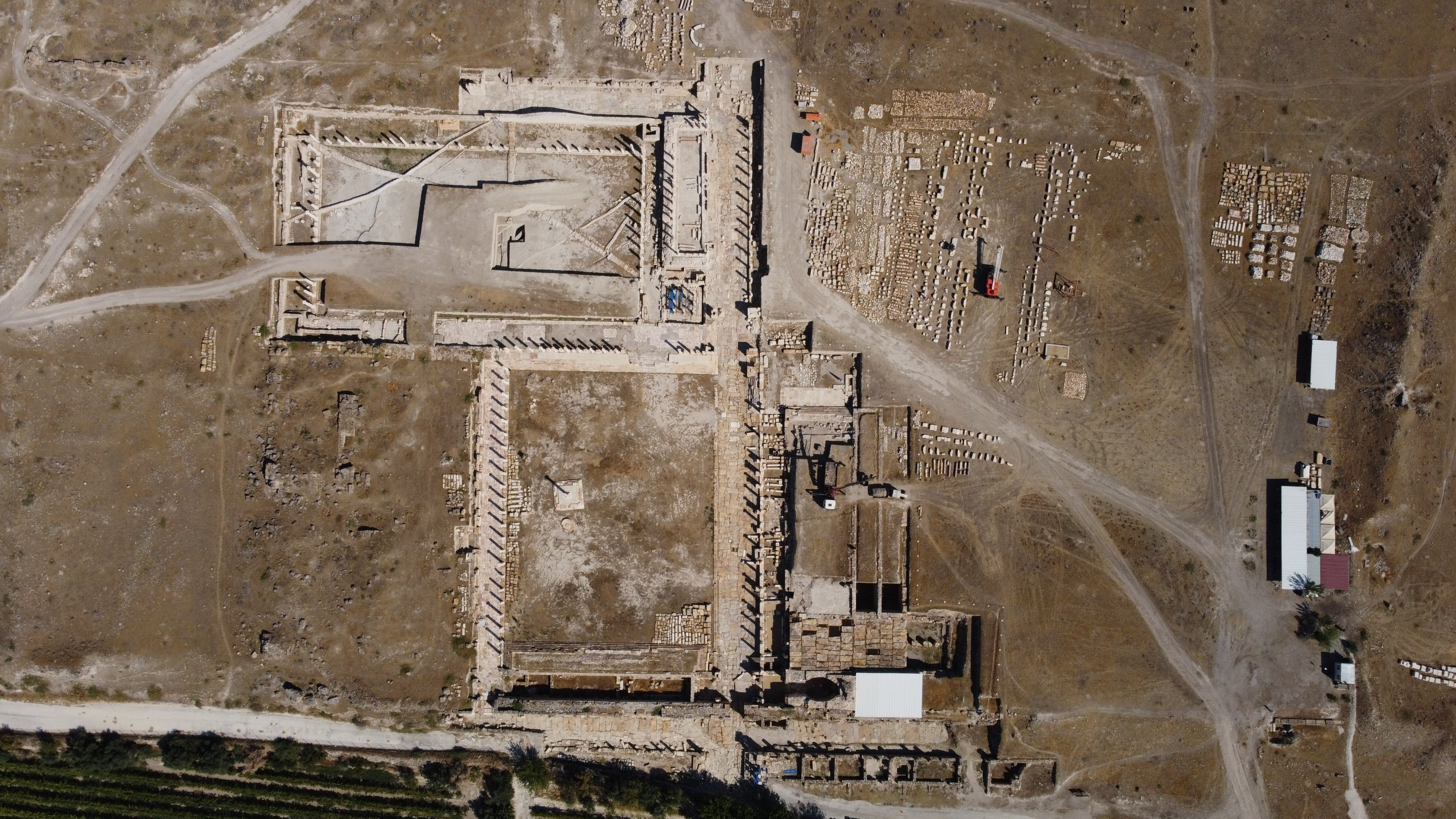 An aerial view from the ancient city of Tripolis, Denizli, southwestern Turkey, Sept. 13, 2021. (AA Photo)