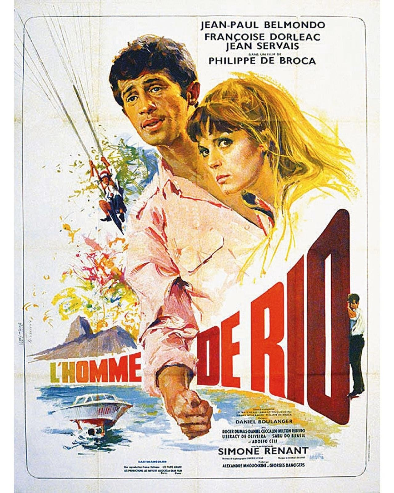 """A poster of """"L'Homme de Rio"""" ('That Man from Rio')."""