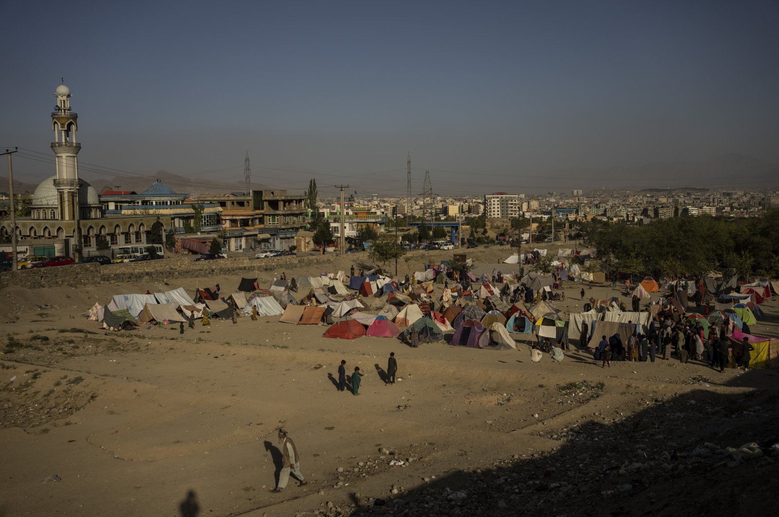 Tents are set up in a camp for internally displaced Afghans in Kabul, Afghanistan, Sept. 13, 2021. (AP Photo)