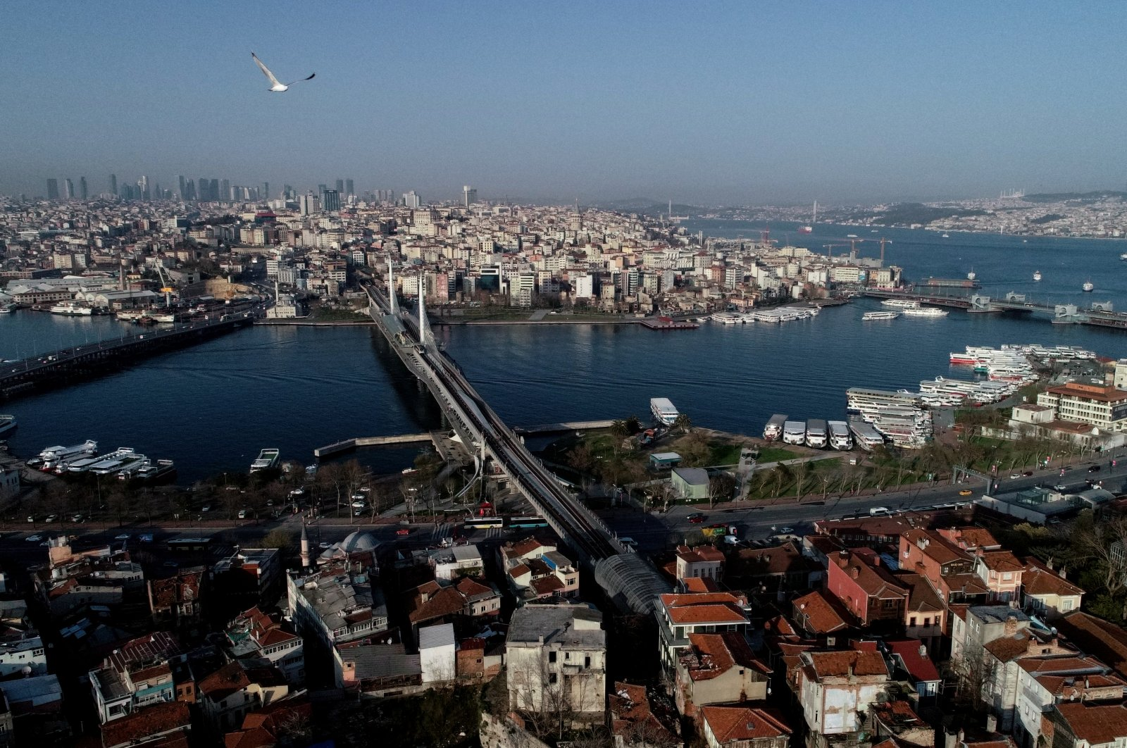 An aerial view of the city during the coronavirus outbreak, Istanbul, Turkey, March 30, 2020. (Reuters Photo)