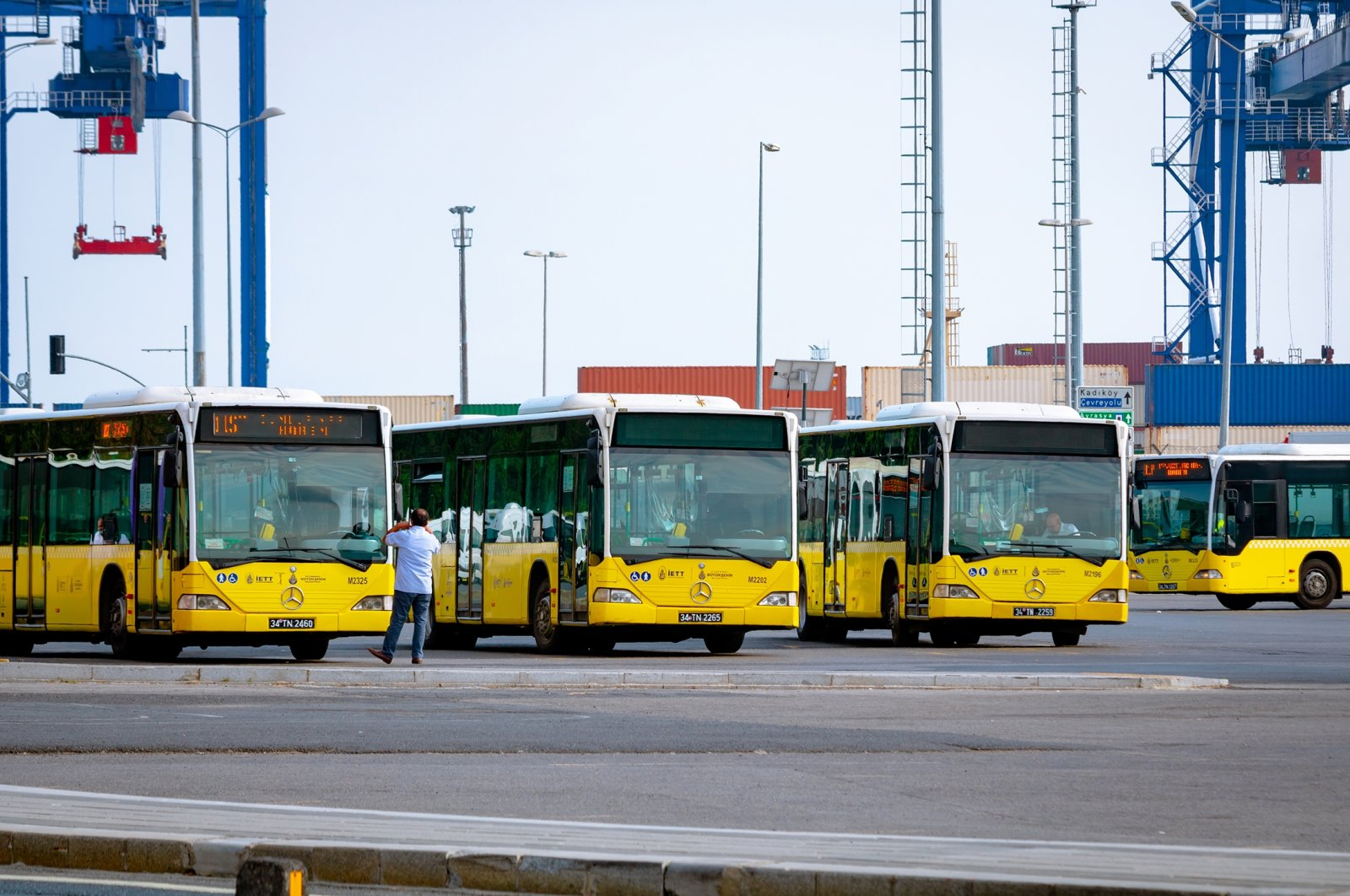 Municipality buses at a bus depot, in Istanbul, Turkey, May 28, 2021. (Shutterstock Photo)