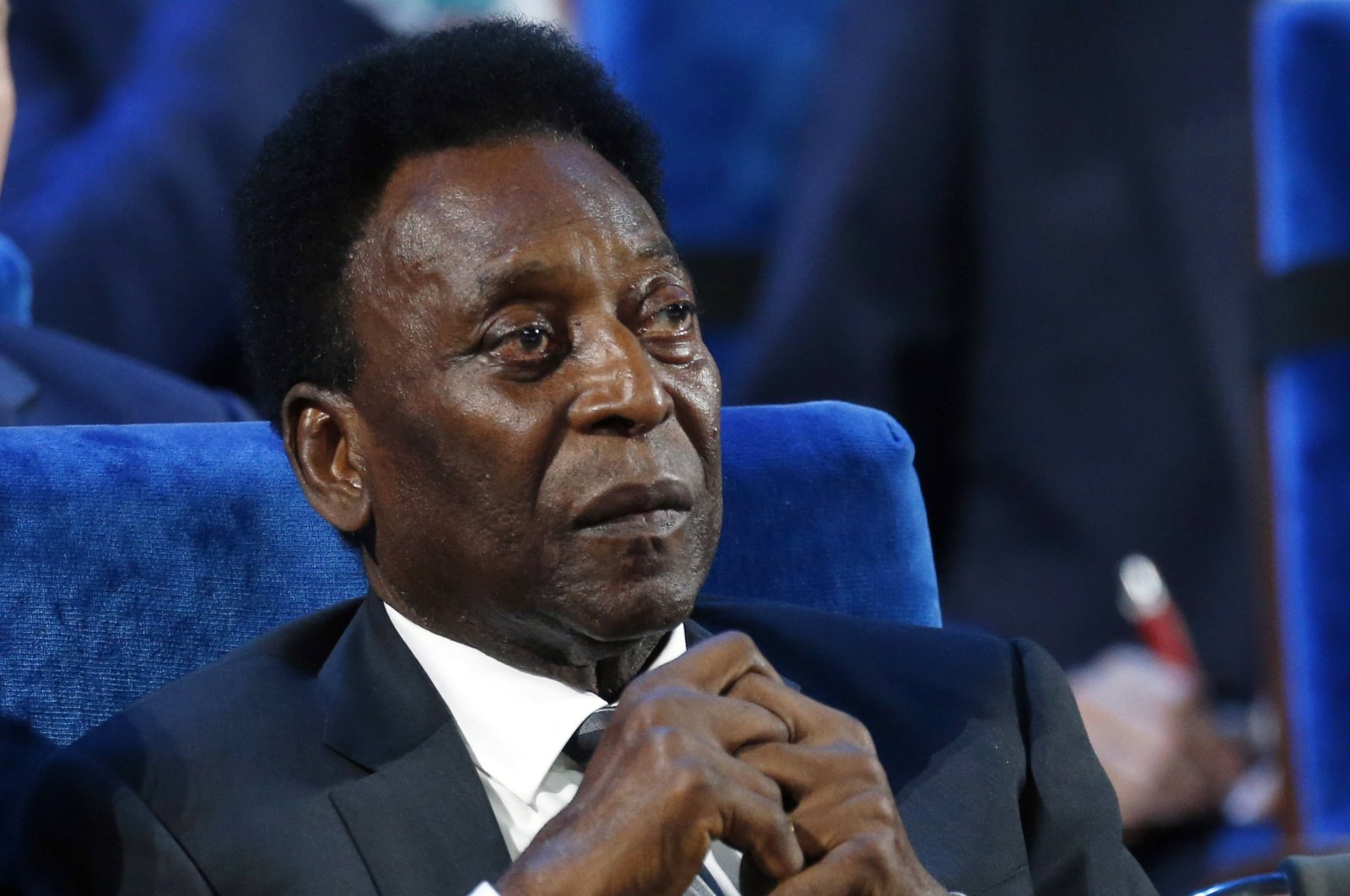Brazilian football legend Pele attends the 2018 soccer World Cup draw in the Kremlin in Moscow, Russia, Dec. 1, 2017. (AP Photo)