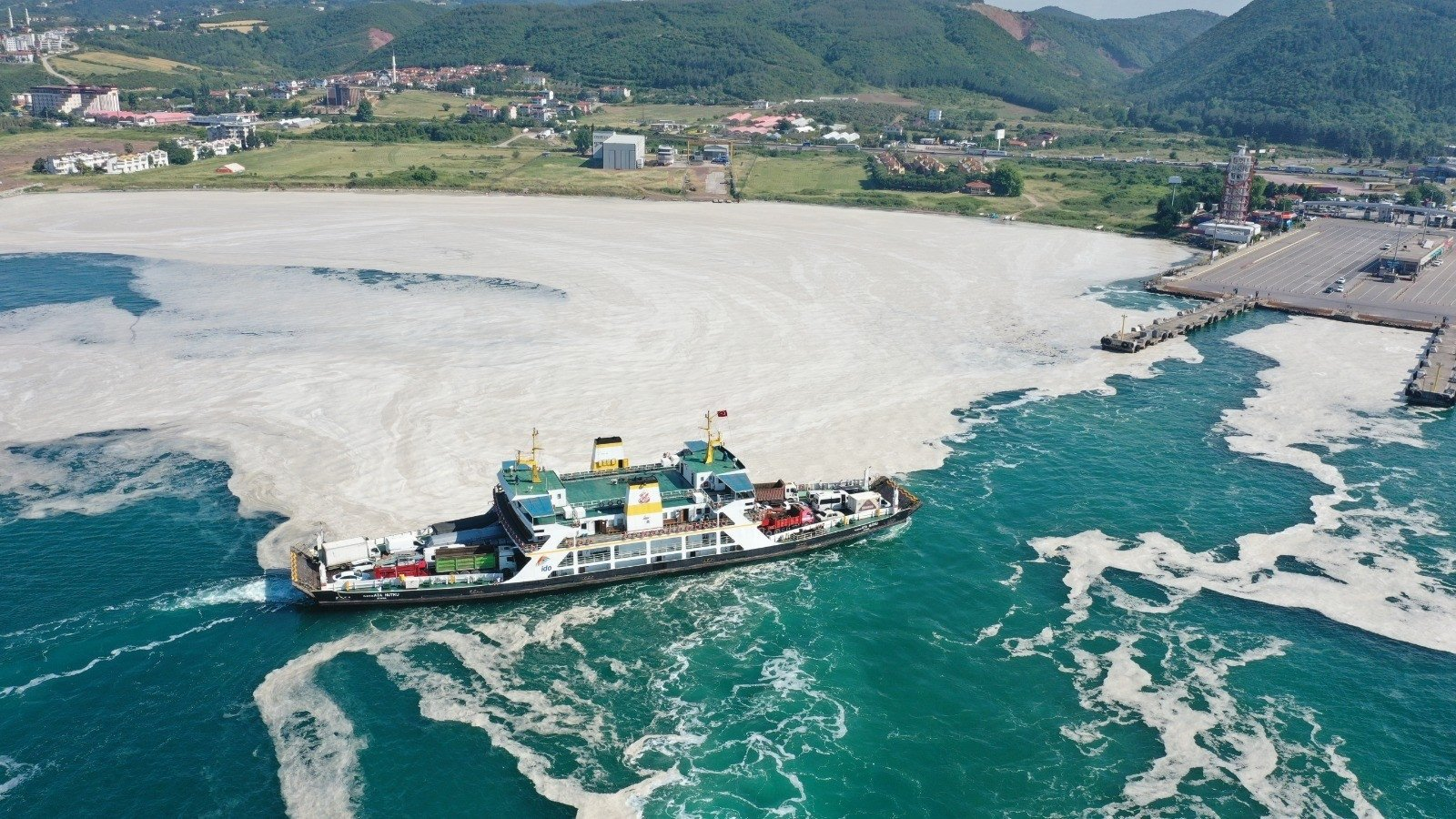 A view of sea snot near the coast, in Yalova, western Turkey, June 12, 2021. (İHA PHOTO)