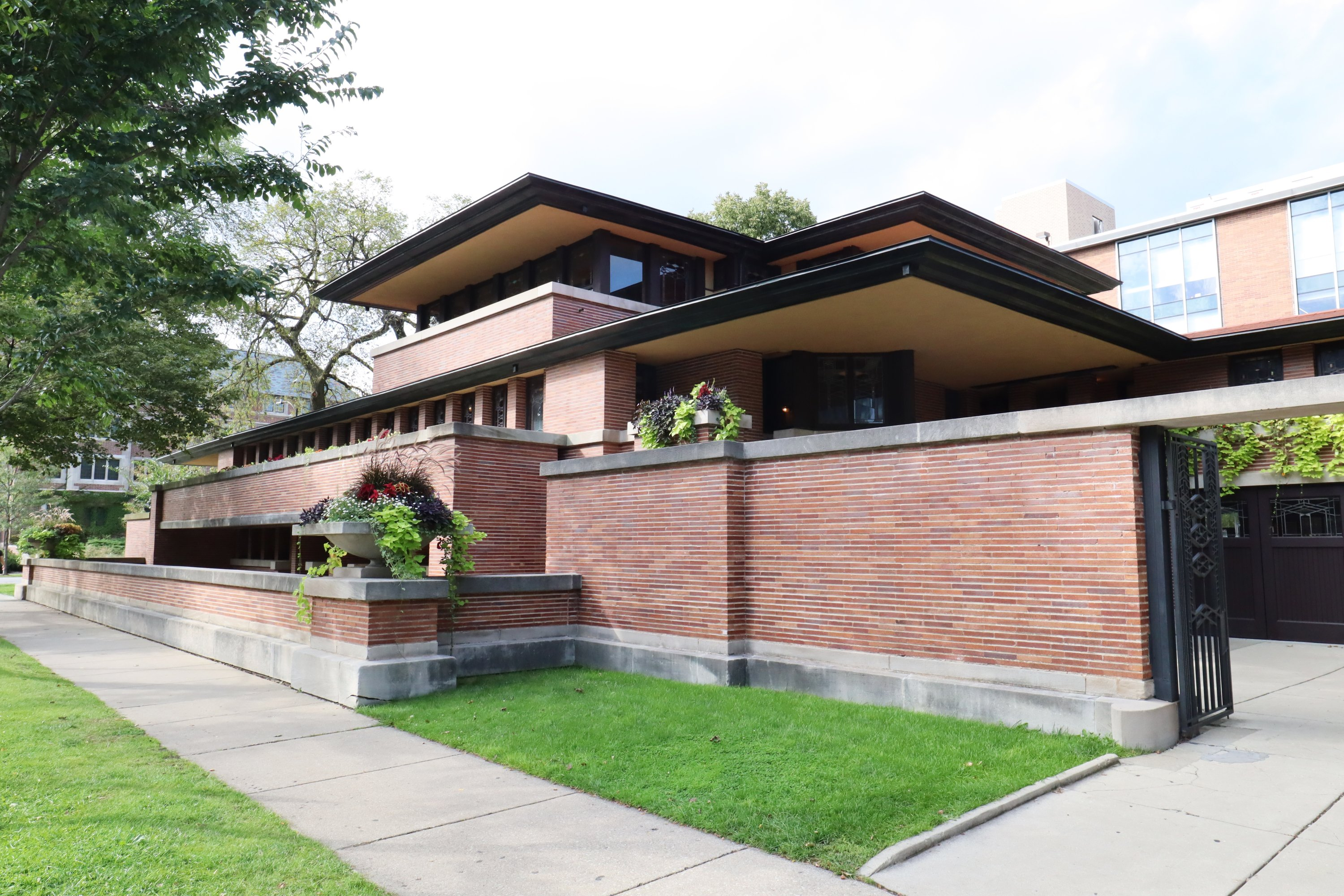 The Robie House in Chicago is Wright's most elaborate Prairie-style home. (DPA Photo)