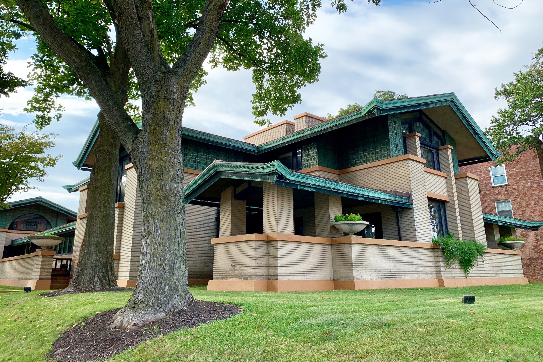 Dana Thomas House in Springfield, redesigned by Frank Lloyd Wright. (DPA Photo)
