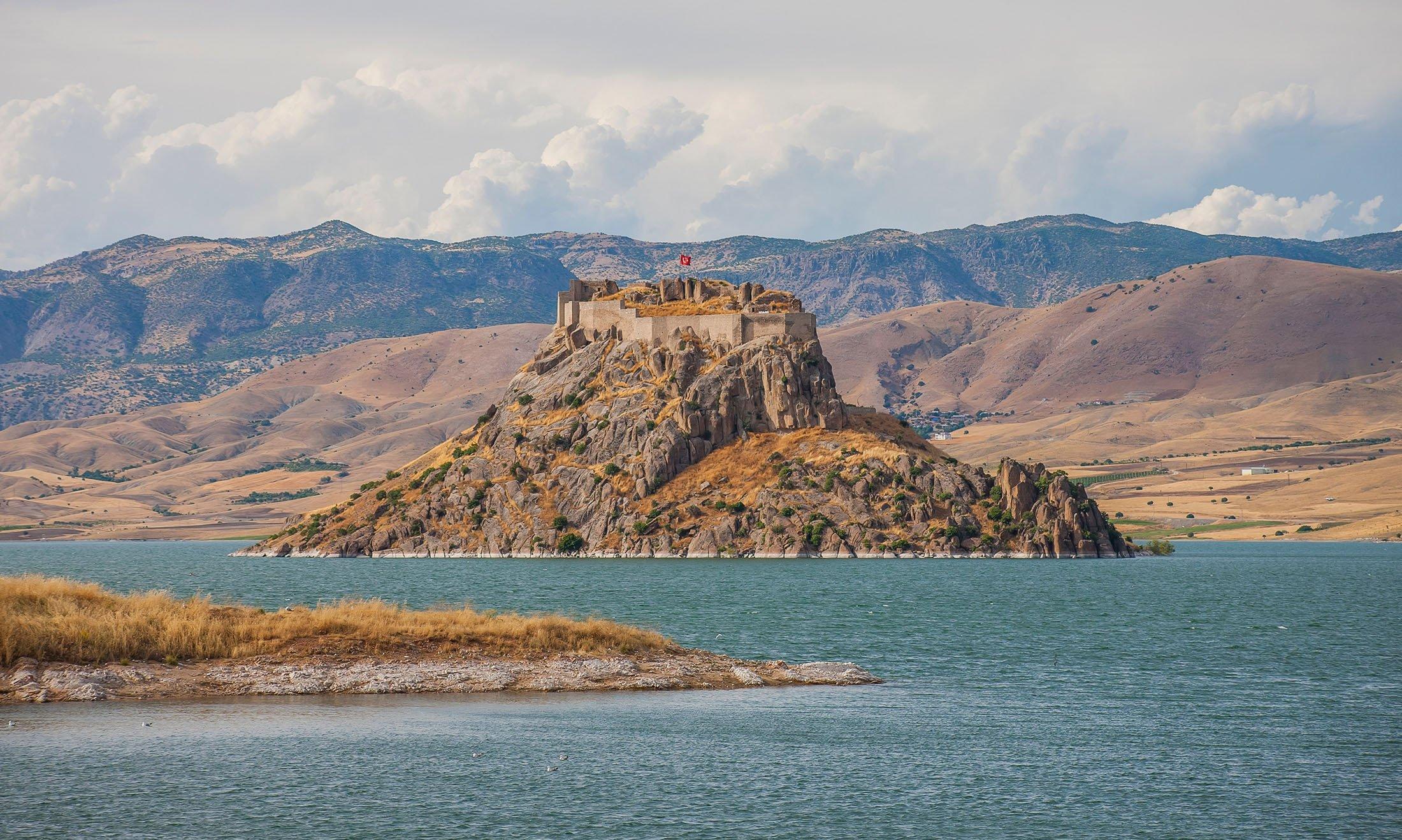 Pertek Castle, in Tunceli, Turkey. (Shutterstock Photo)