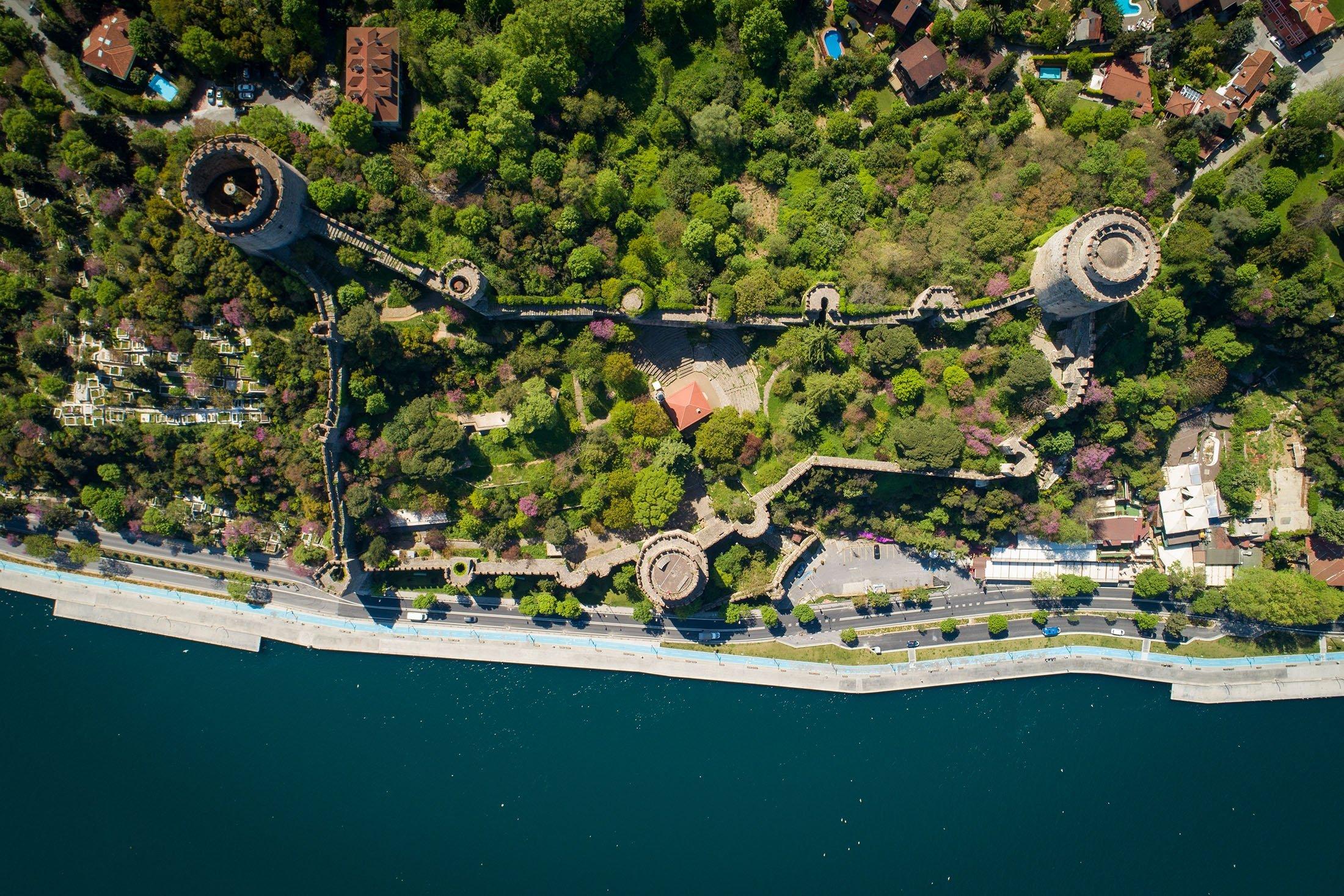 An aerial view of the Rumelihisarı, in Istanbul, Turkey. (Shutterstock Photo)