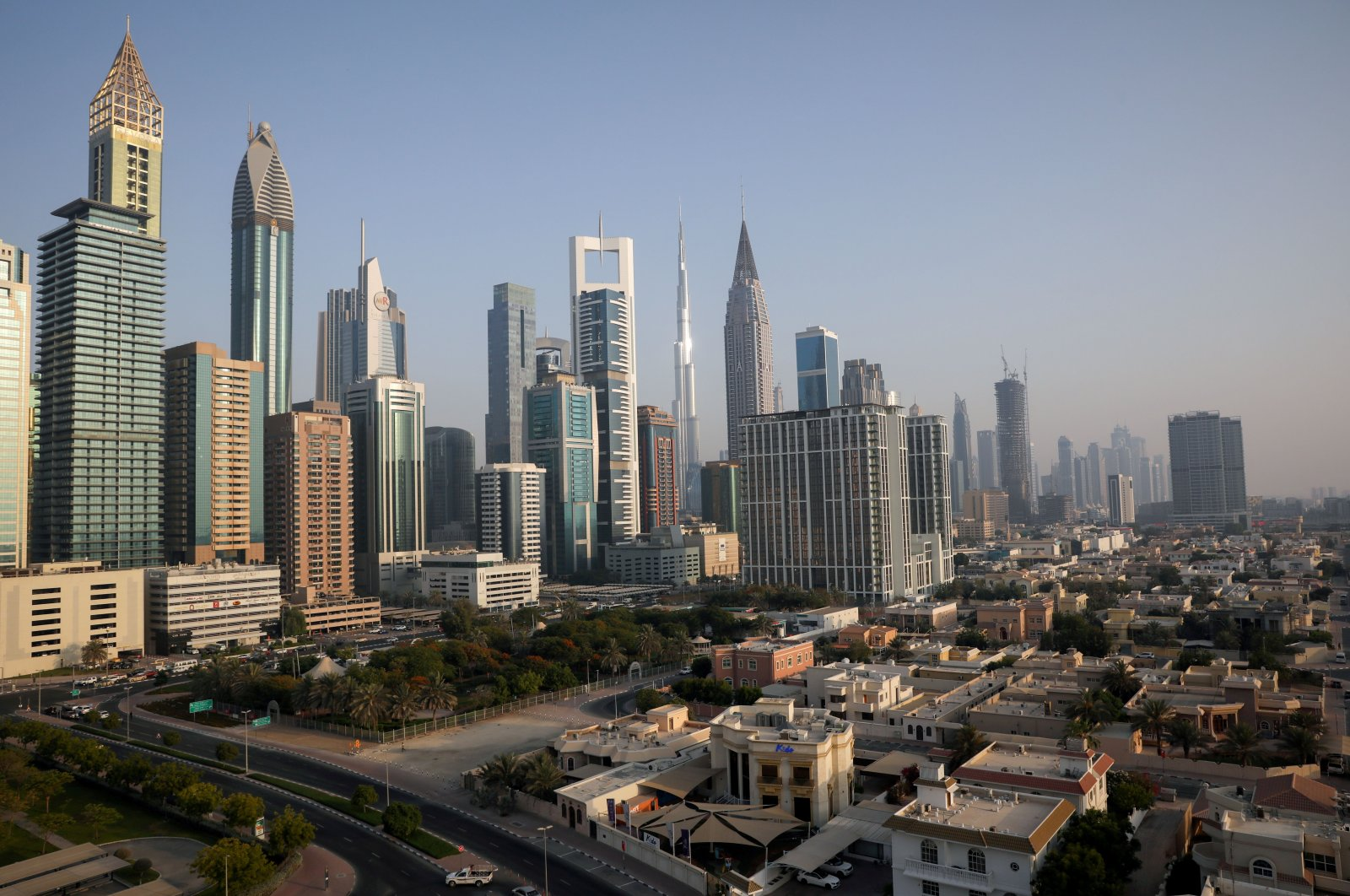 A general view of the Burj Khalifa and the downtown skyline in Dubai, United Arab Emirates, June 12, 2021. (Reuters Photo)