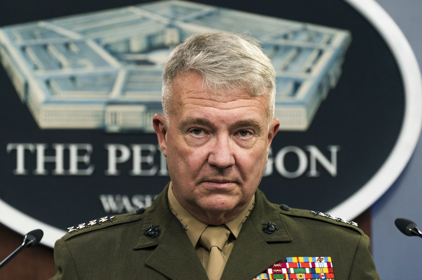 Gen. Frank McKenzie, commander of the United States Central Command, speaks during a briefing at the Pentagon in Washington, D.C., U.S., April 22, 2021. (AP File Photo)