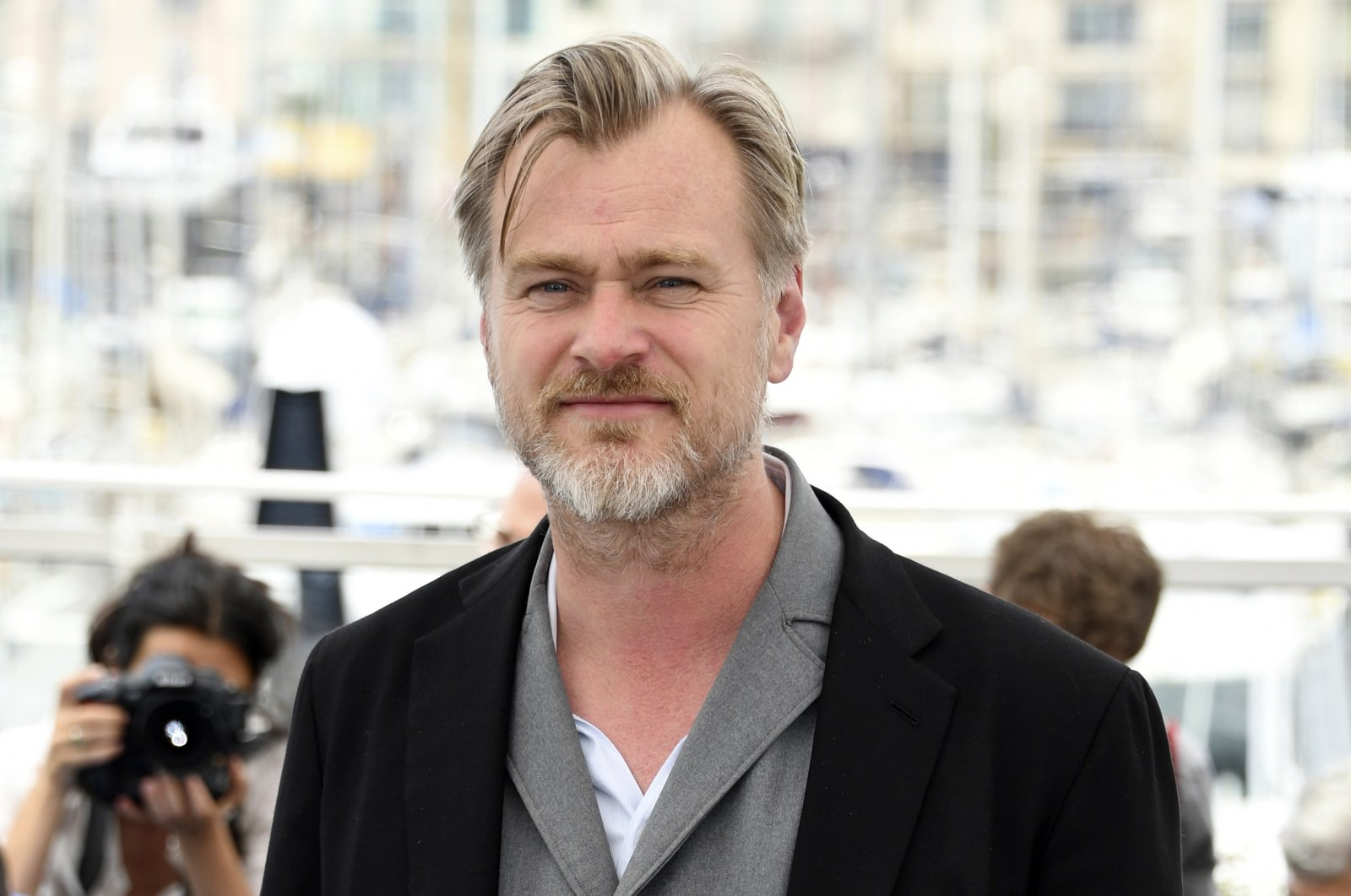 Director Christopher Nolan poses during a photo shoot at the 71st international film festival, Cannes, southern France on May 12, 2018. (Photo by Arthur Mola/Invision/AP)