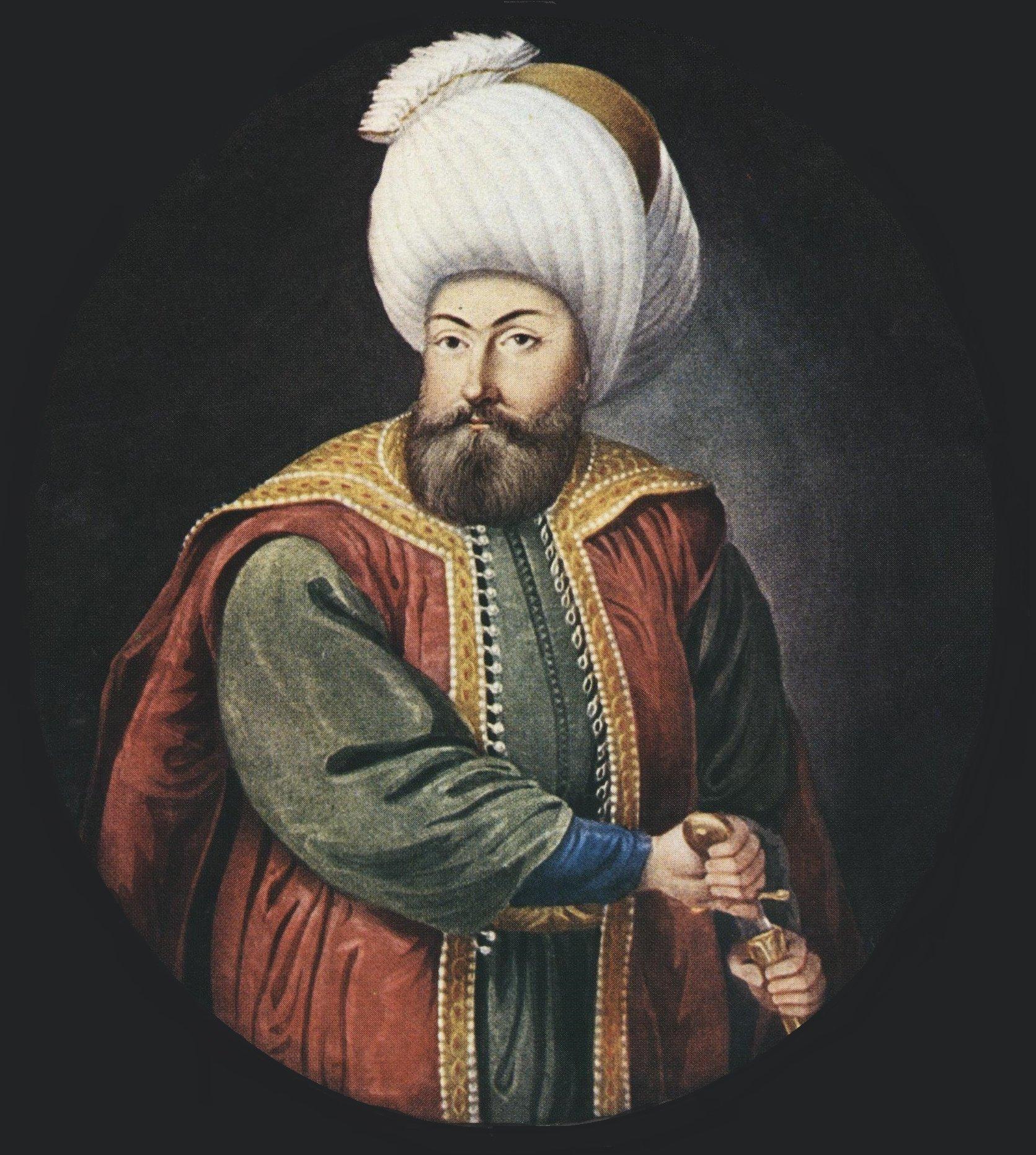 A 19th-century depiction of Osman, by Konstantin Kapıdağlı. (Wikimedia Photo)
