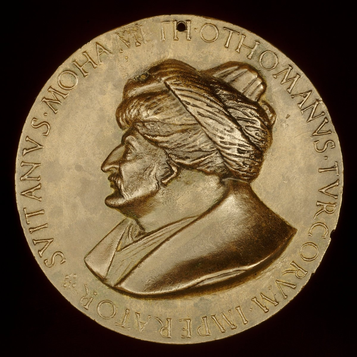 A European bronze medal from the period of Sultan Mehmed the Conqueror, 1481. (Wikimedia Photo)