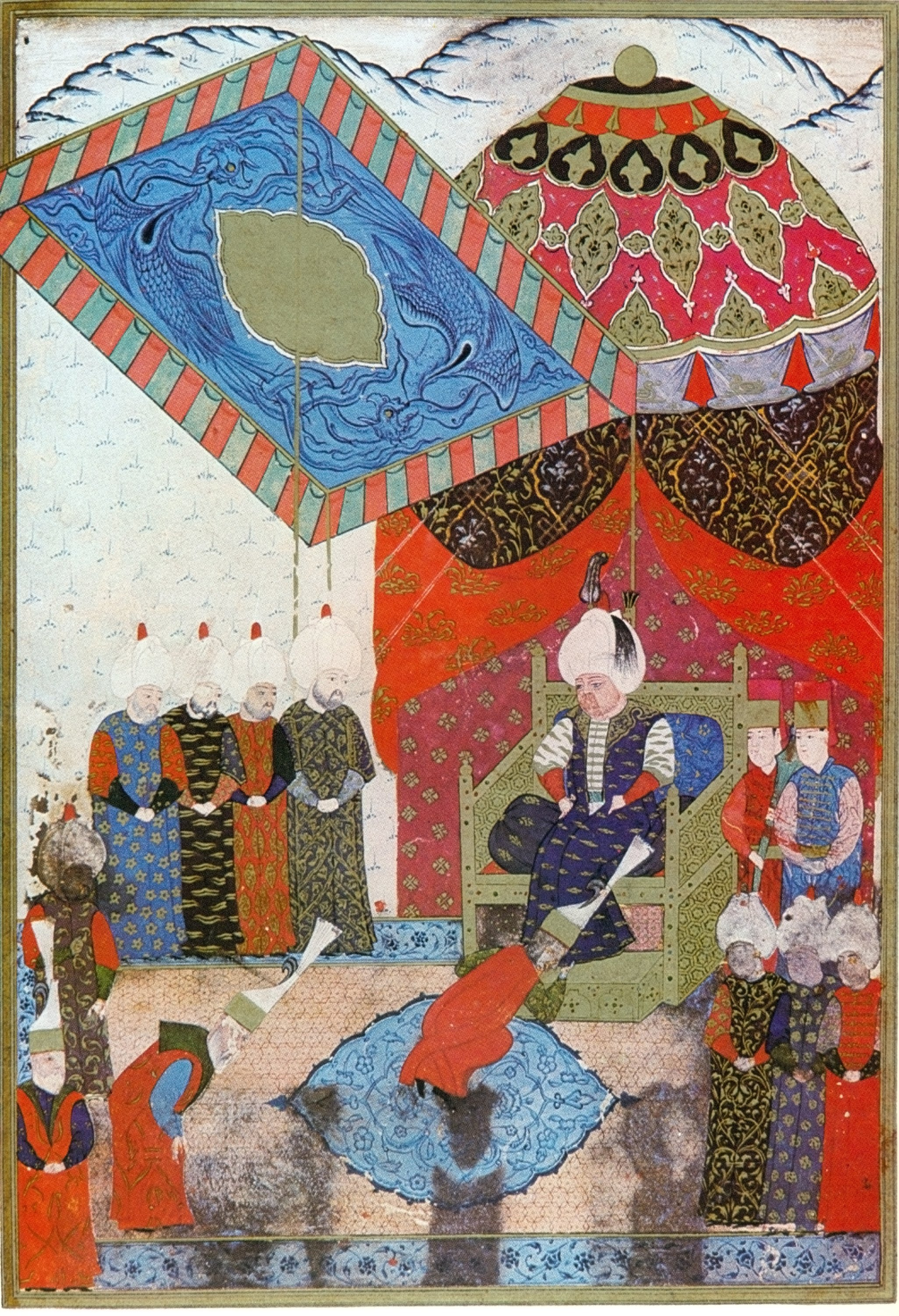 Selim II ascends to the throne, 16th century, Topkapı Palace collection. (Wikimedia Photo)
