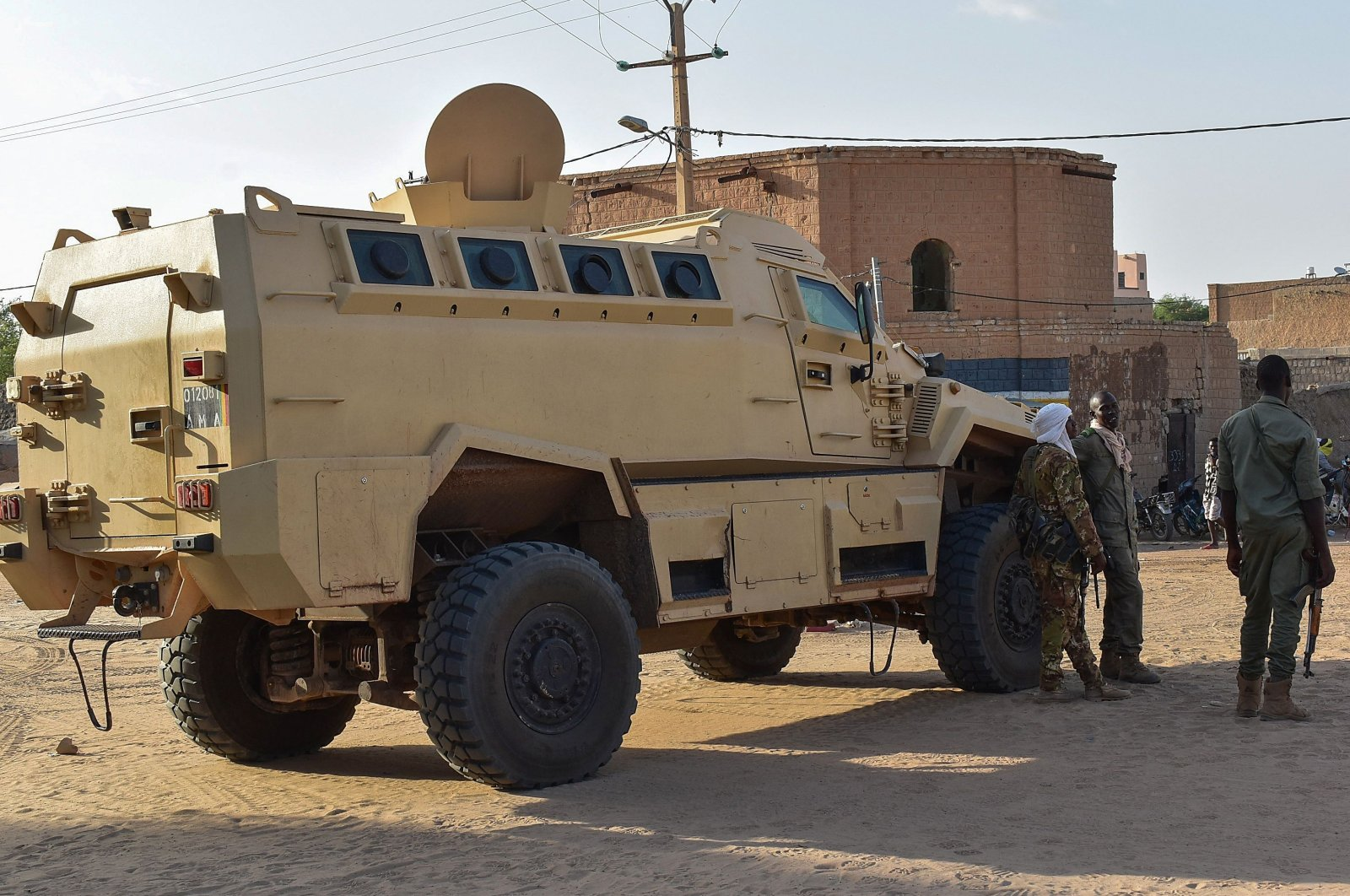 An armored personnel carrier of the Malian Armed Forces is seen in Timbuktu, Mali, Sept. 9, 2021. (AFP Photo)