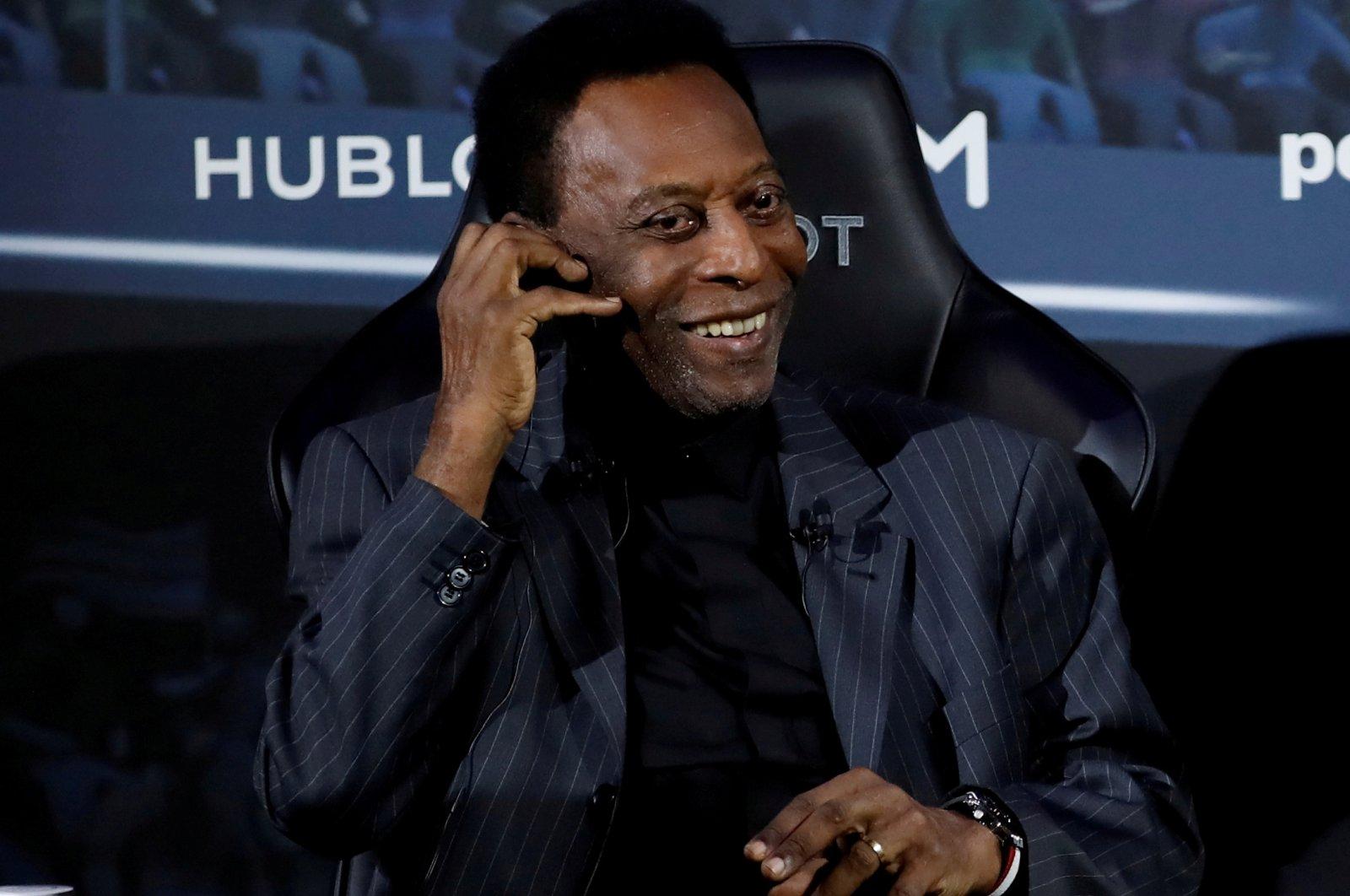 Brazilian football legend Pele attends an event in Paris, France, April 2, 2019. (Reuters Photo)